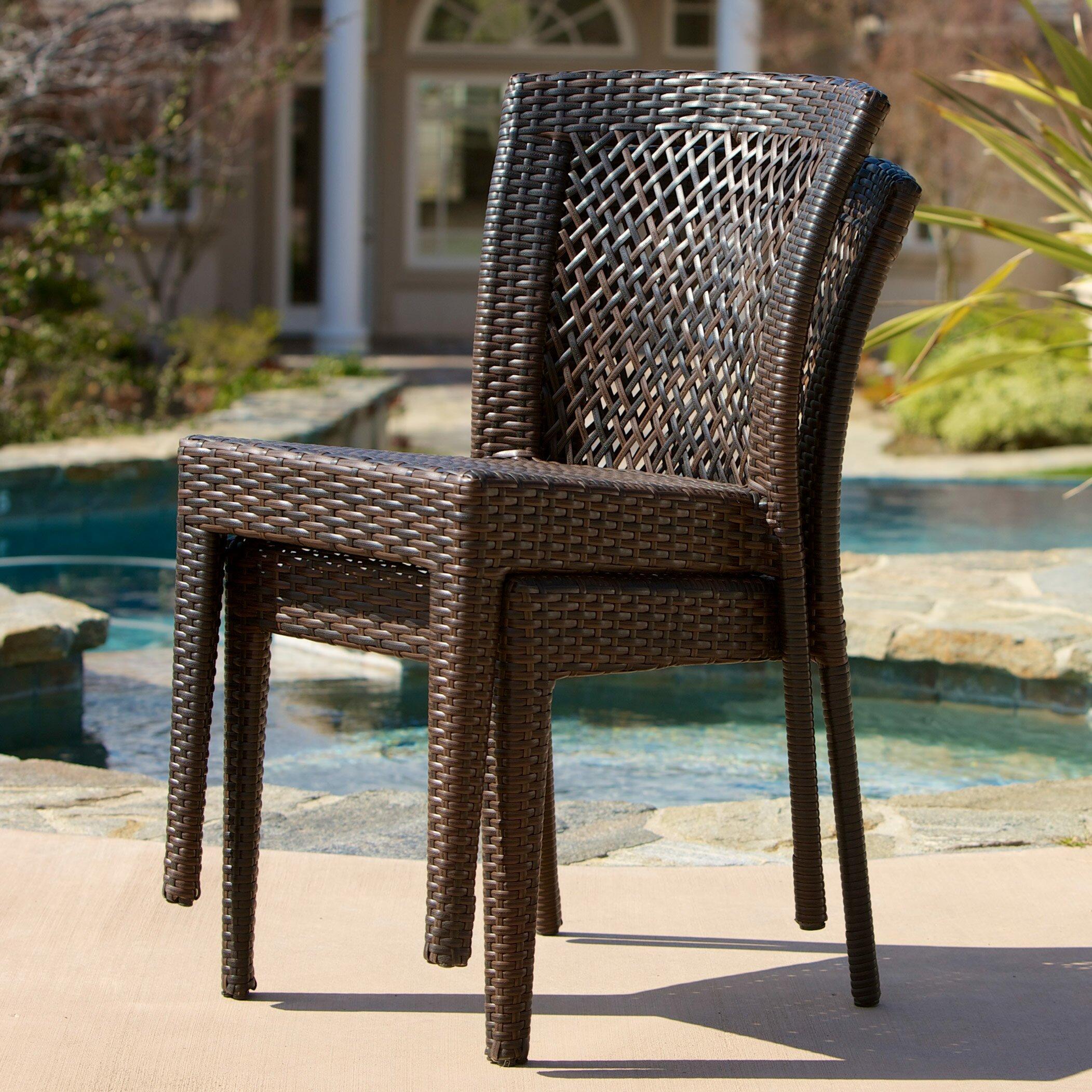 Breakwater Bay Dawson Outdoor Wicker Chair Amp Reviews Wayfair