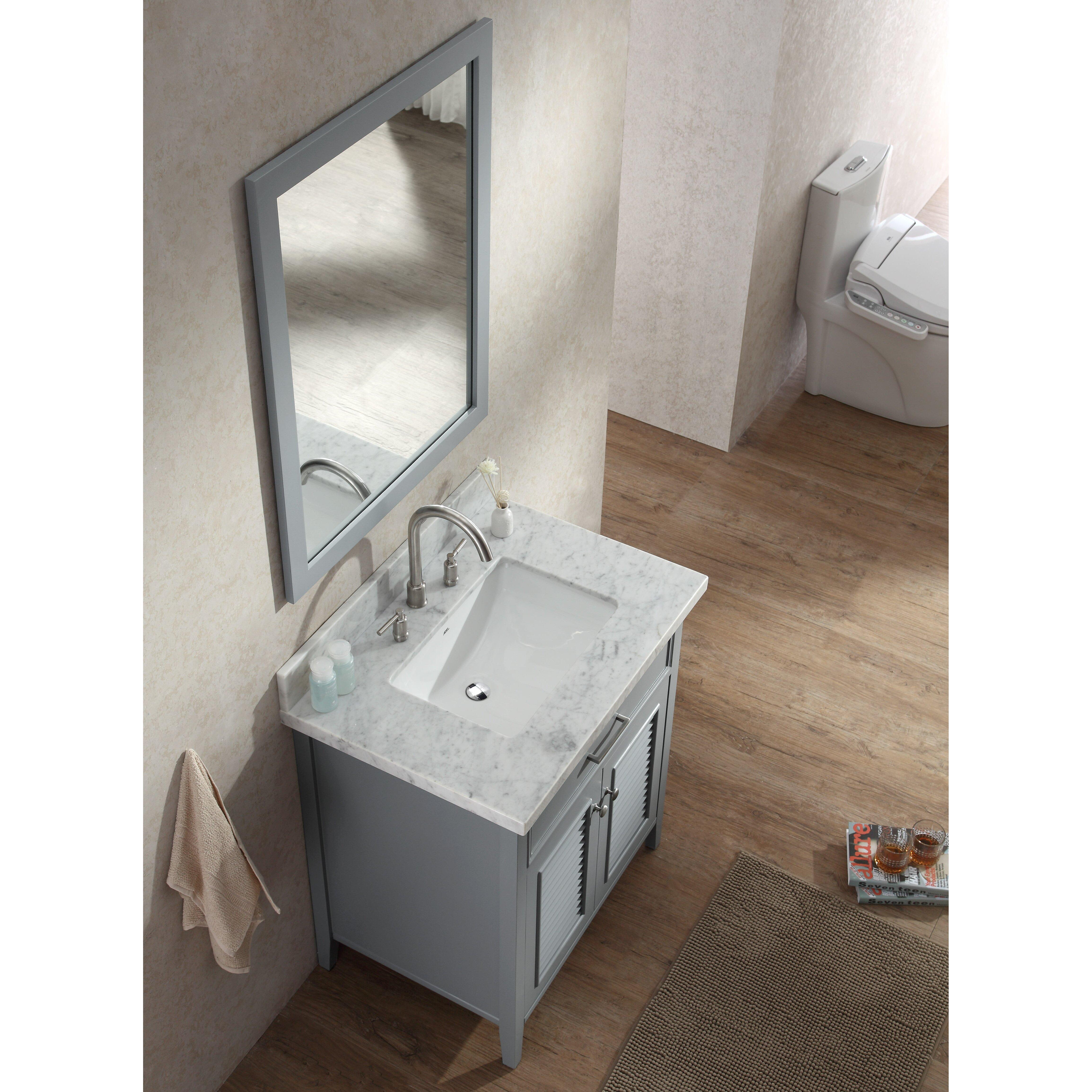Breakwater Bay Brewster 31 amp quot  Single Bathroom Vanity Set with Mirror. Breakwater Bay Brewster 31 quot  Single Bathroom Vanity Set with Mirror