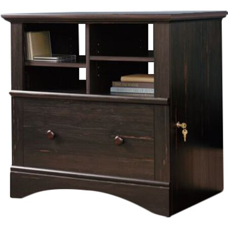 Spectacular Deal On Sauder Shoal Creek Jamocha Wood 1 Drawer File