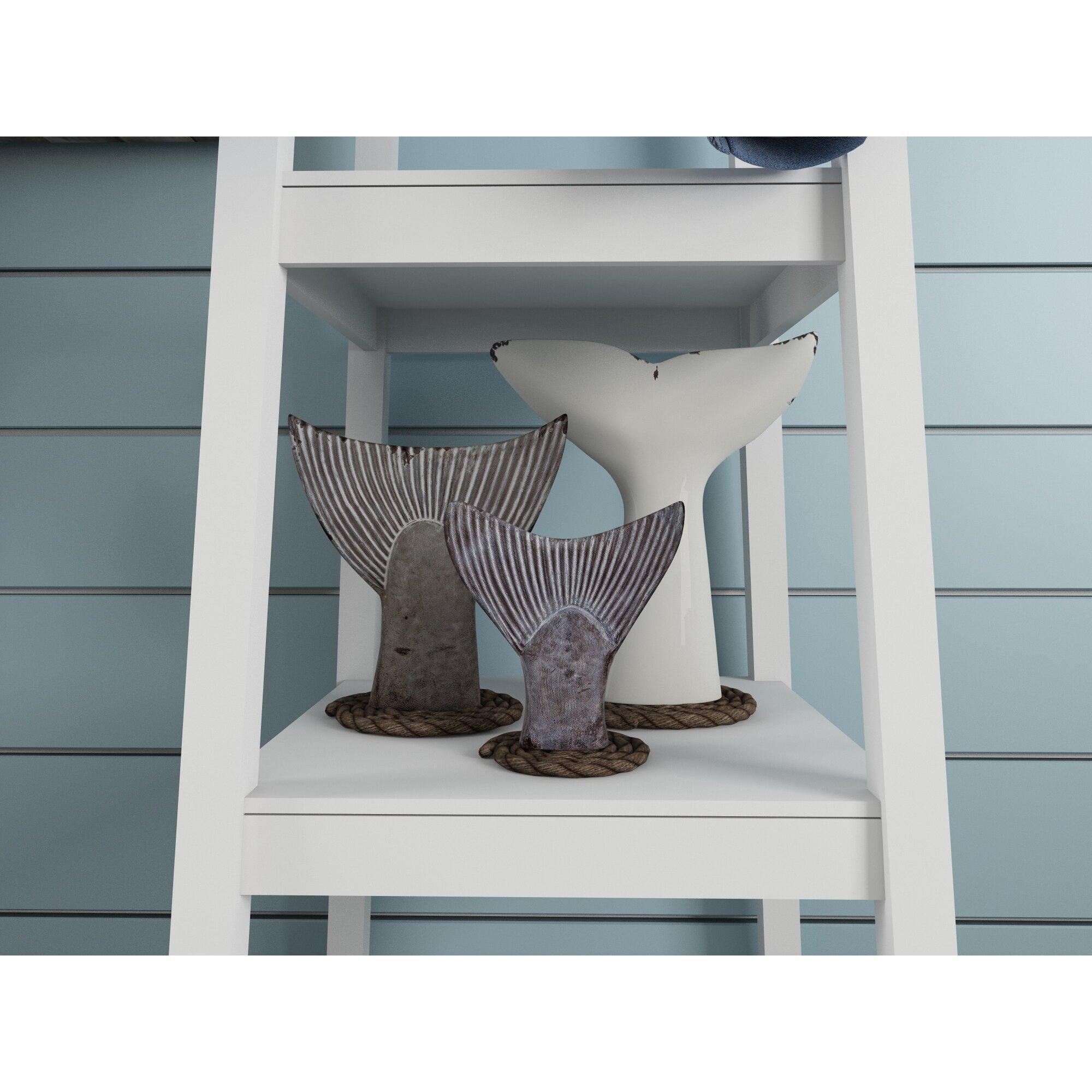 breakwater bay seaworthy 3 piece fish tail wall decor set. Black Bedroom Furniture Sets. Home Design Ideas