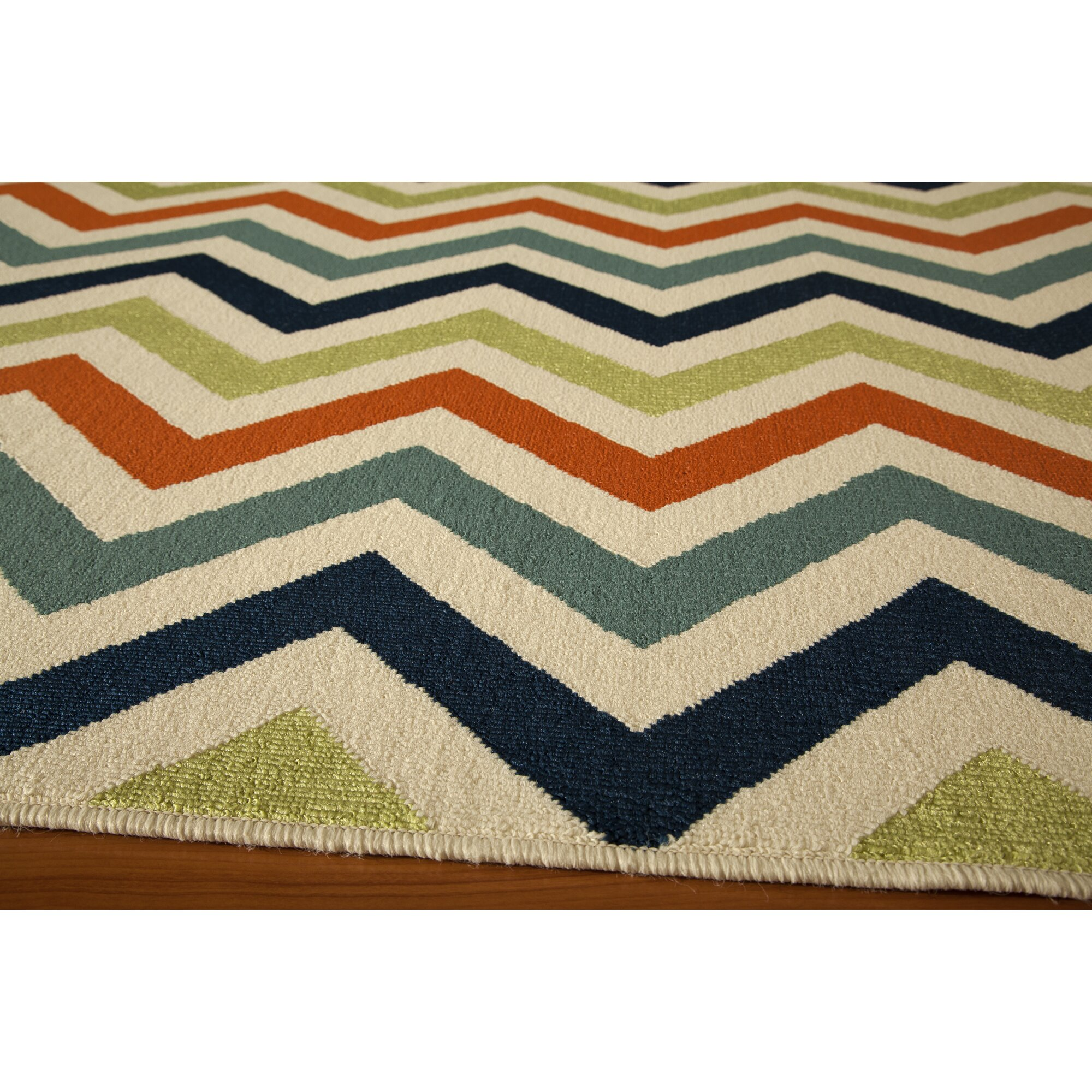 Breakwater Bay Norris Green Blue Indoor Outdoor Area Rug