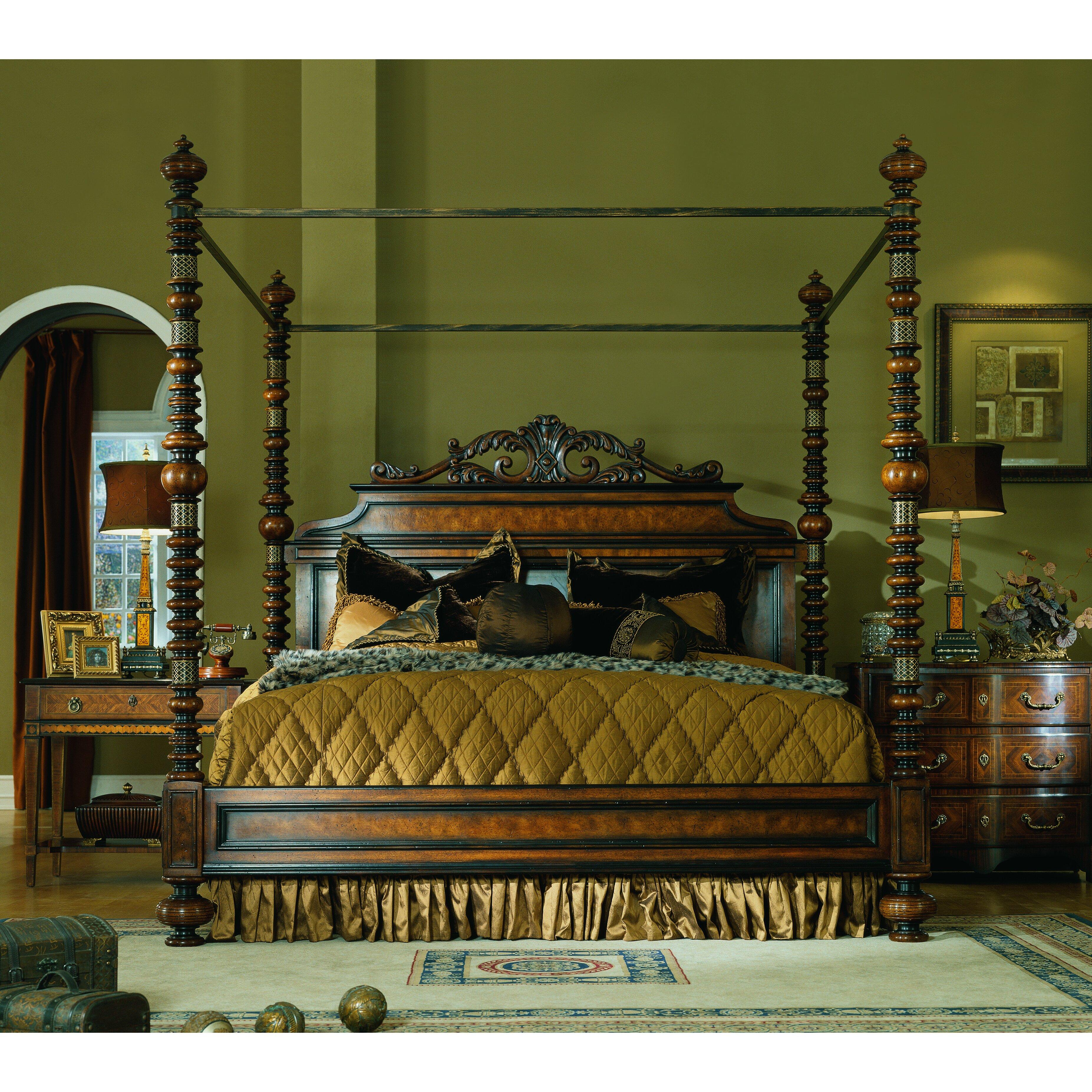 easternlegends lisbon king canopy customizable bedroom set | wayfair
