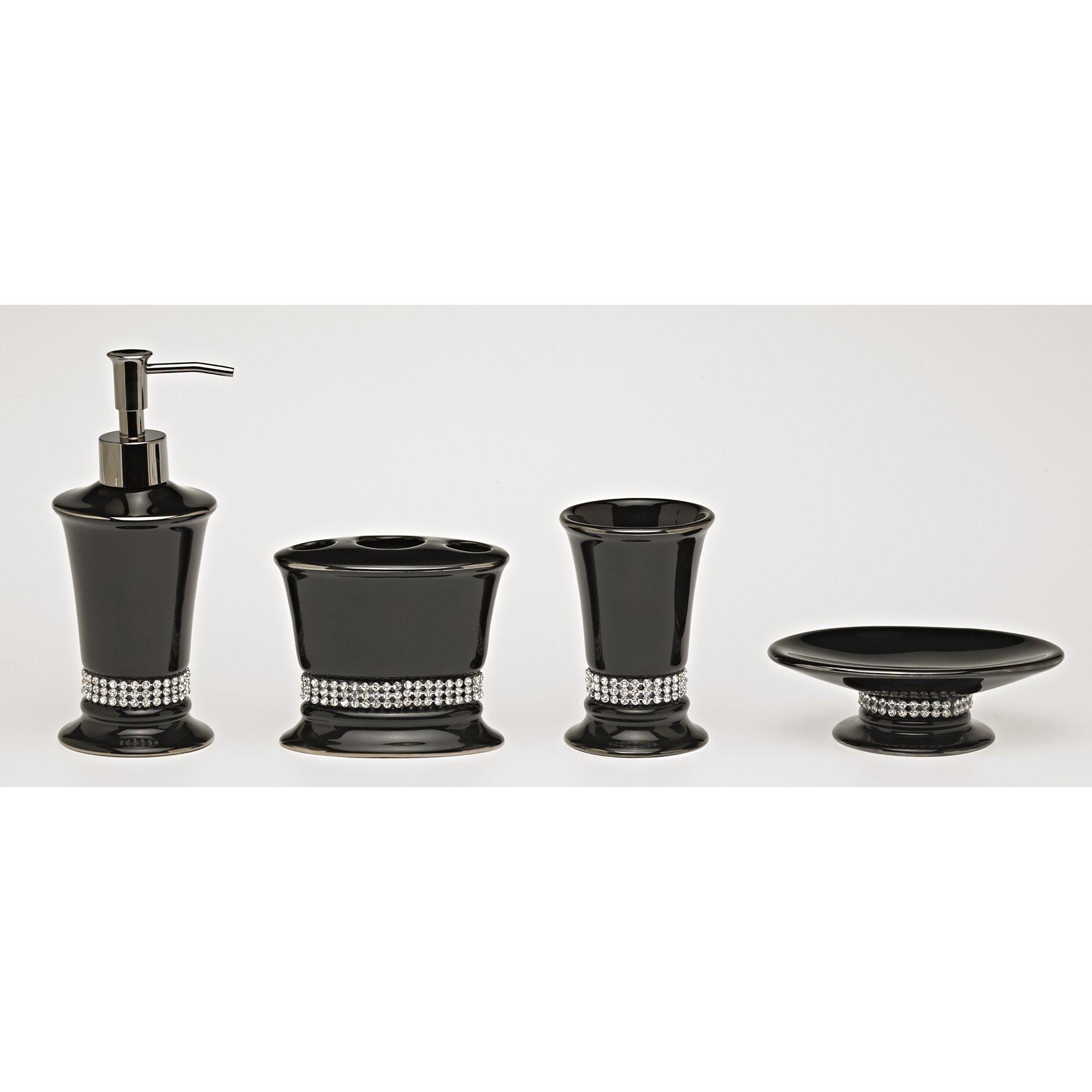 4 Piece Kitchen Appliance Set Moda At Home Broadway Ceramic 4 Piece Bathroom Accessory Set