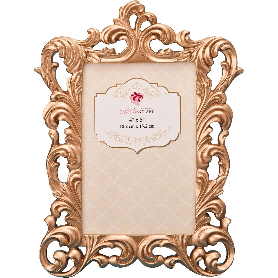 fashion craft rose gold baroque picture frame