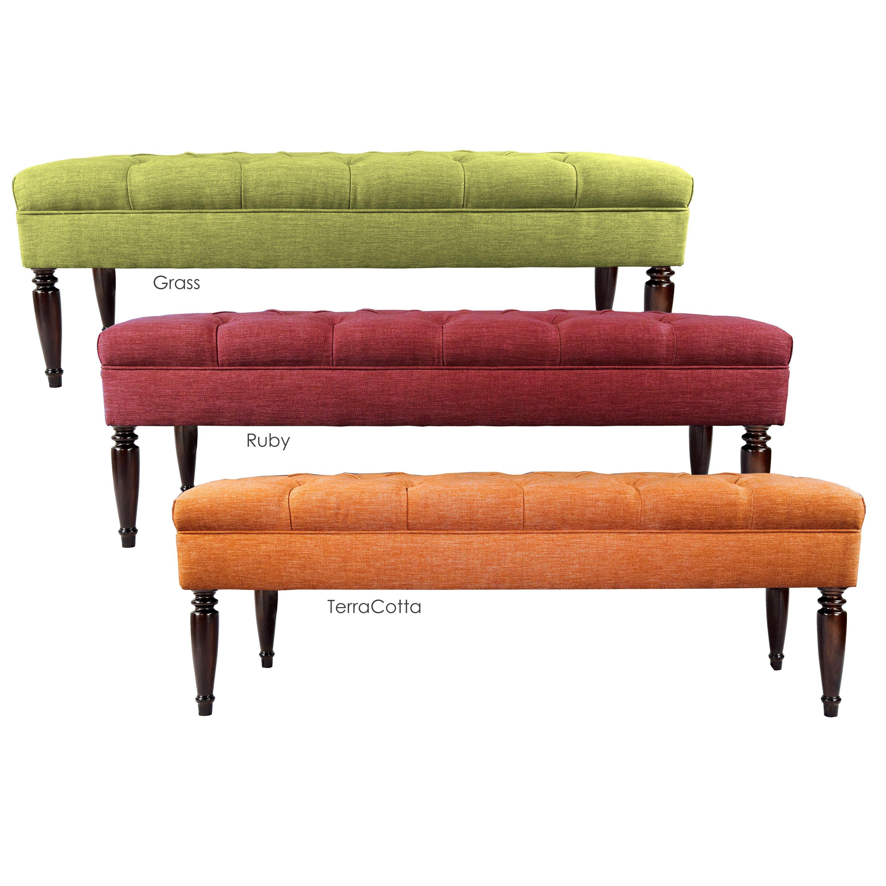 Red Bedroom Bench Mjlfurniture Key Largo Claudia Upholstered Bedroom Bench Reviews