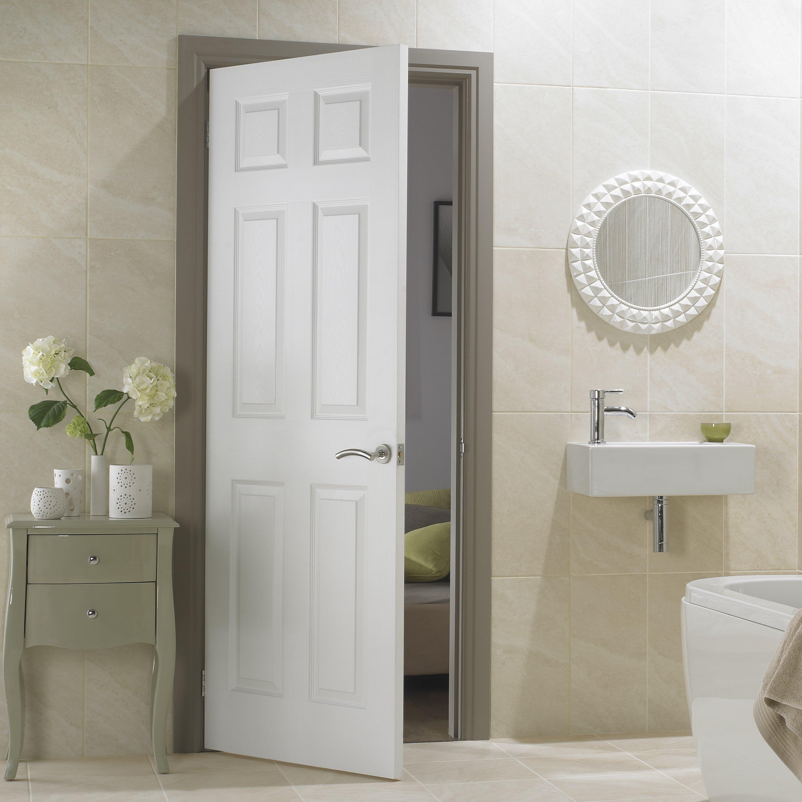 premdor safe and sound 6 panel white internal door. Black Bedroom Furniture Sets. Home Design Ideas