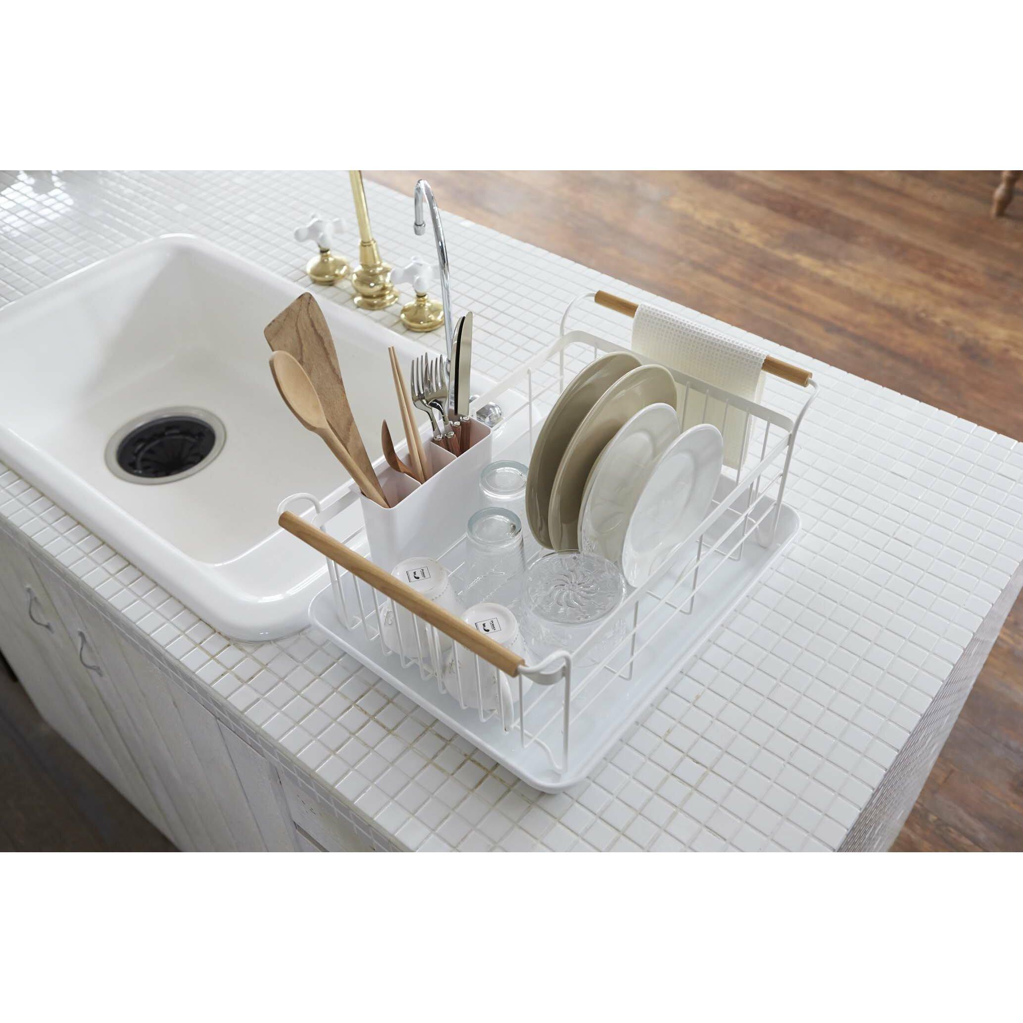 Drain Racks For Kitchen Sinks Yamazaki Usa Tosca Dish Drainer Rack Reviews Wayfair