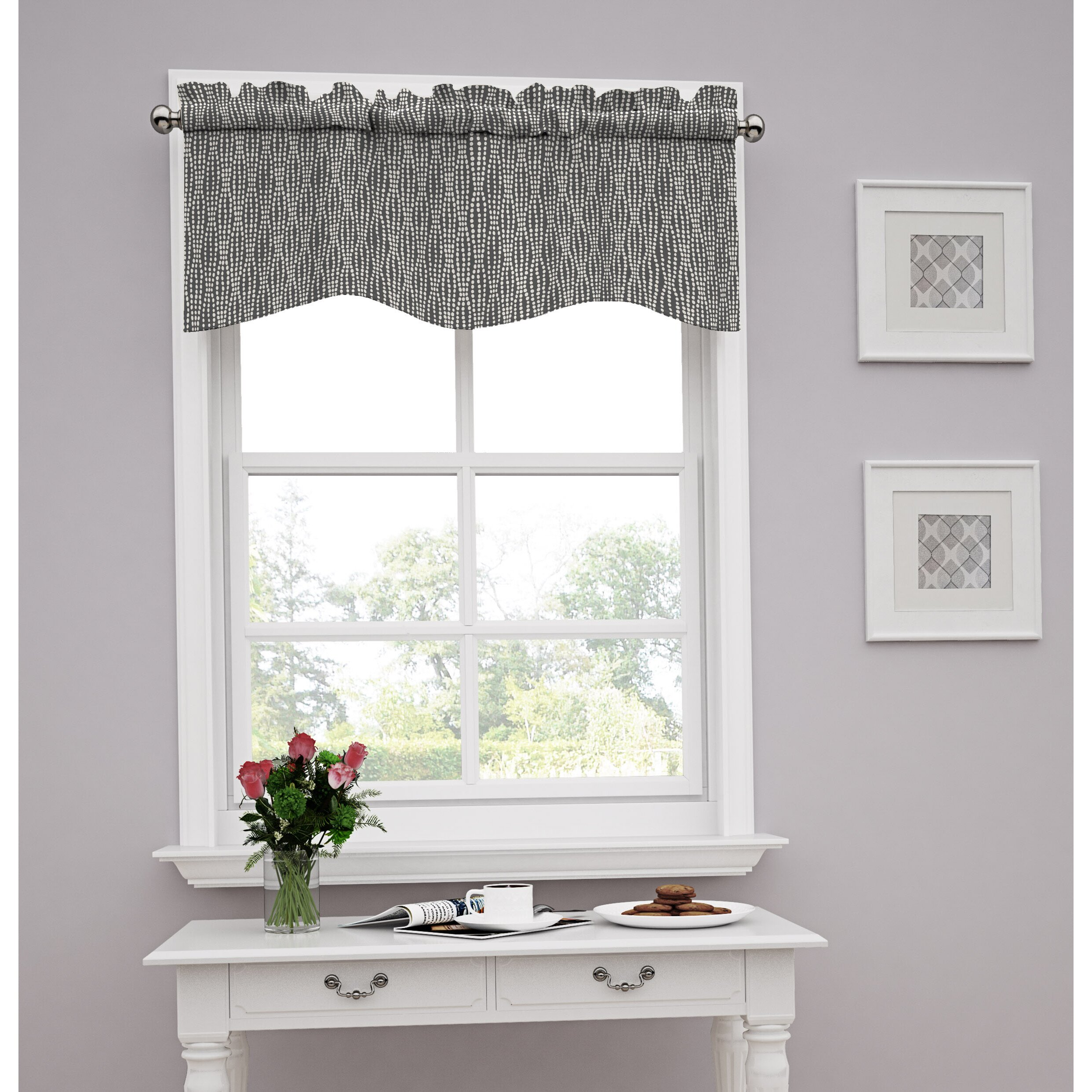 Window Valance For Kitchen Window Valances Cafac Kitchen Curtains Youll Love Wayfair