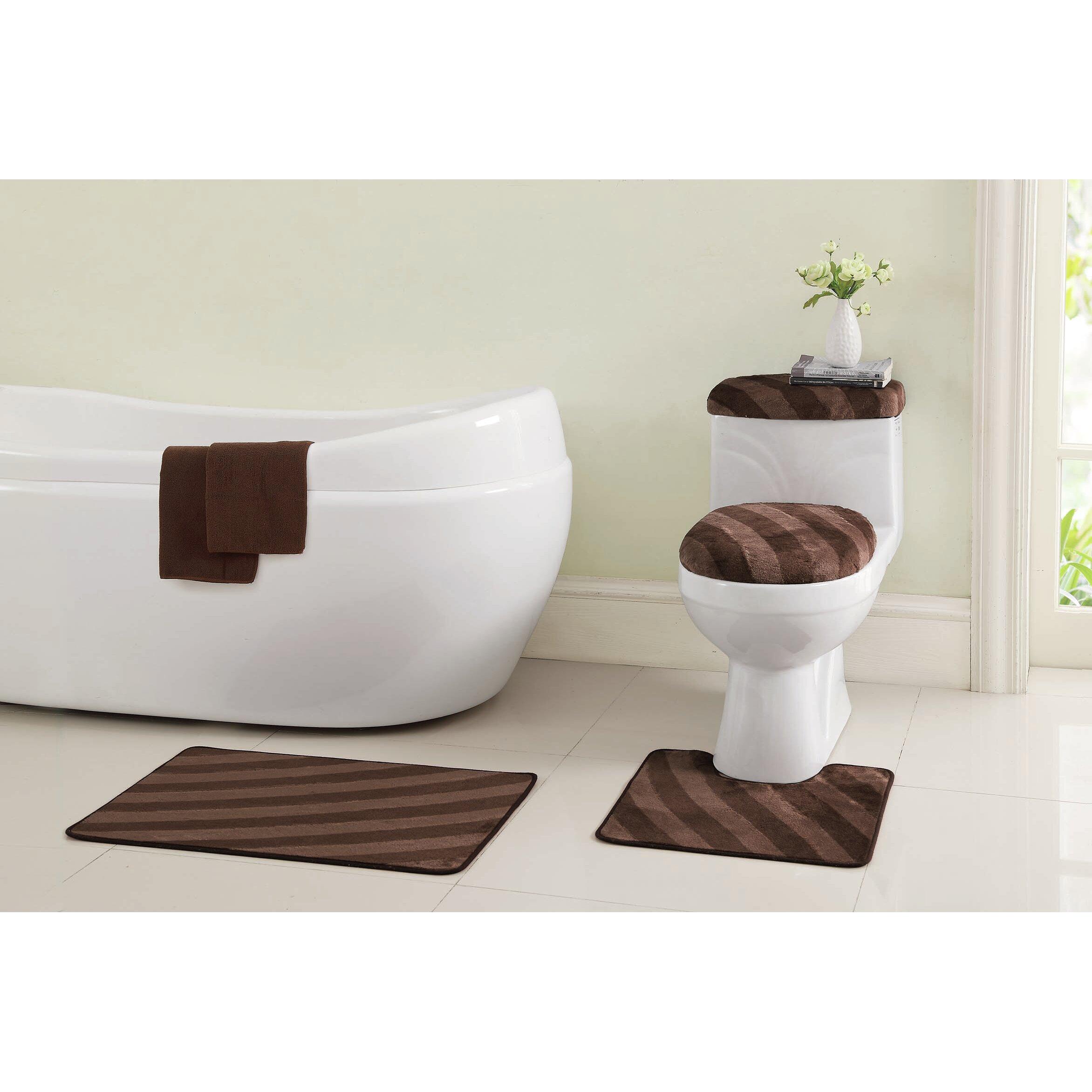 Bathroom Rugs Set Vcny Addie 12 Piece Bath Rug Set Reviews Wayfair