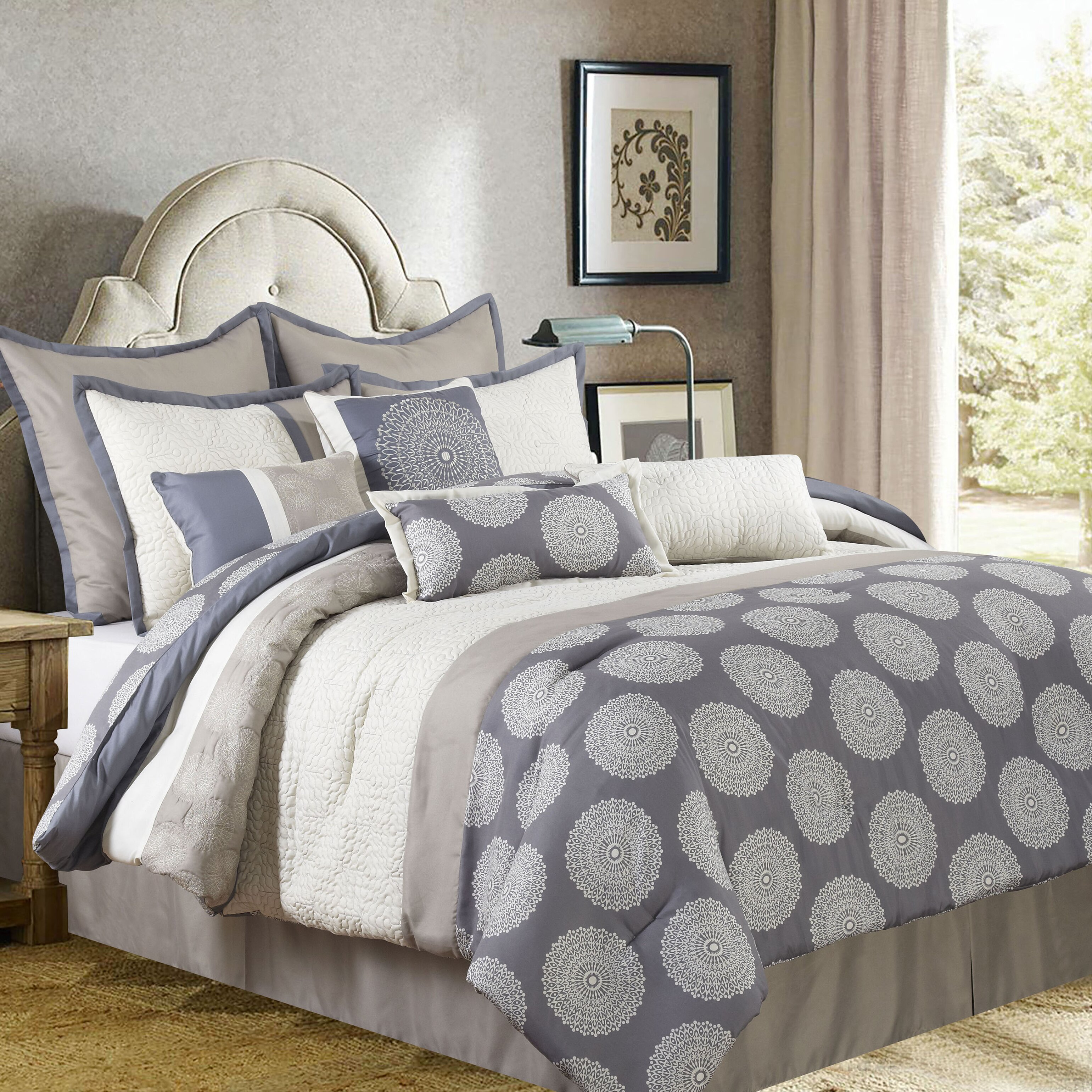 nanshing america, inc dante 10 piece comforter set & reviews | wayfair