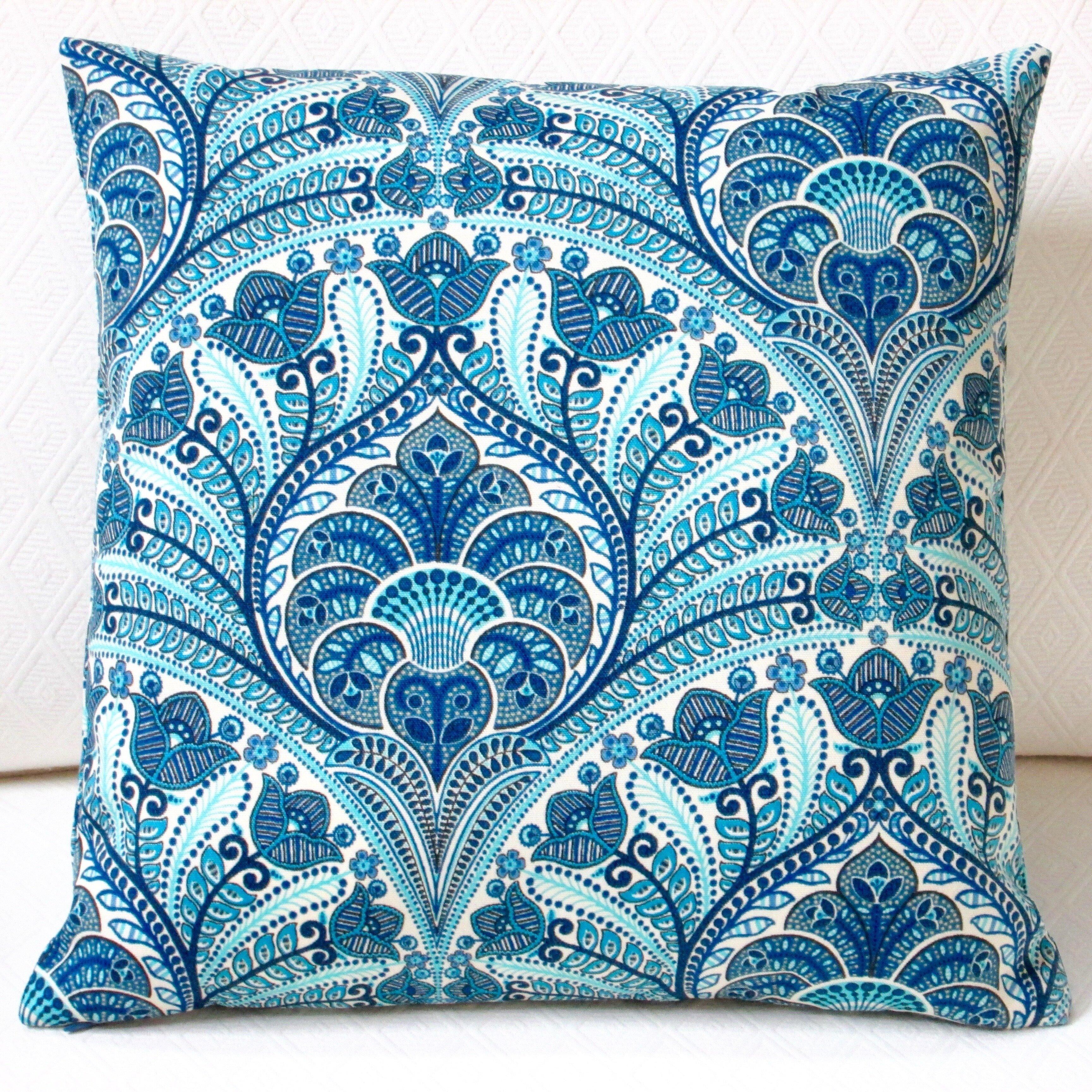 Artisan pillows tommy bahama fabric beach riptide modern - Fabric for throw pillows ...