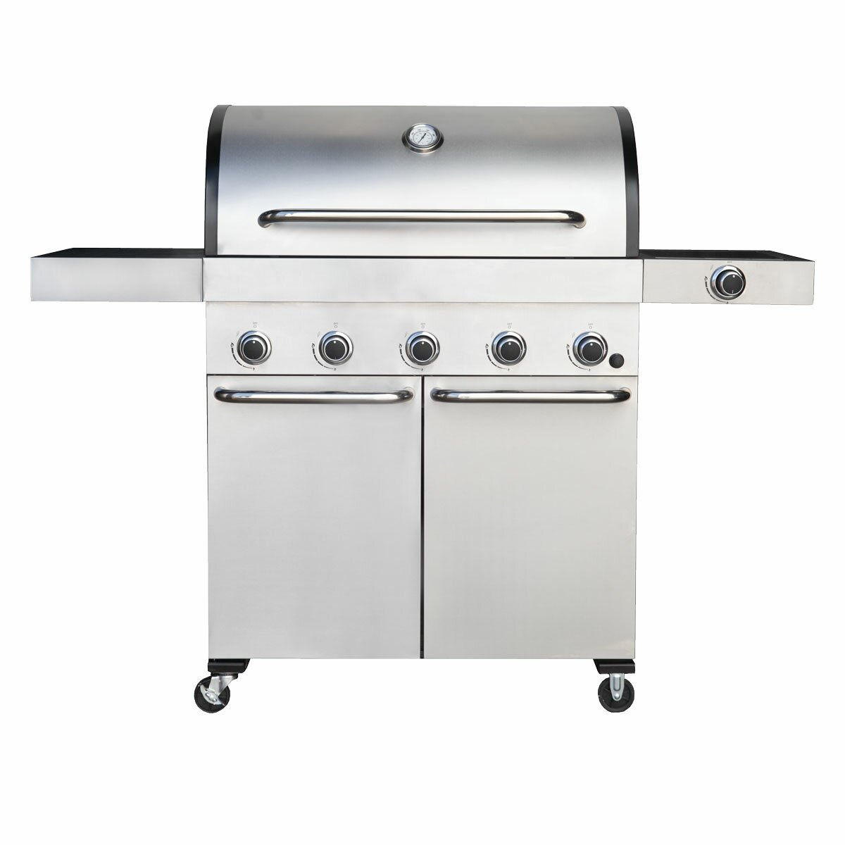 Bbq Galore Outdoor Kitchen Barbeques Galore Captain Cook 5 Burner Propane Gas Grill With Side