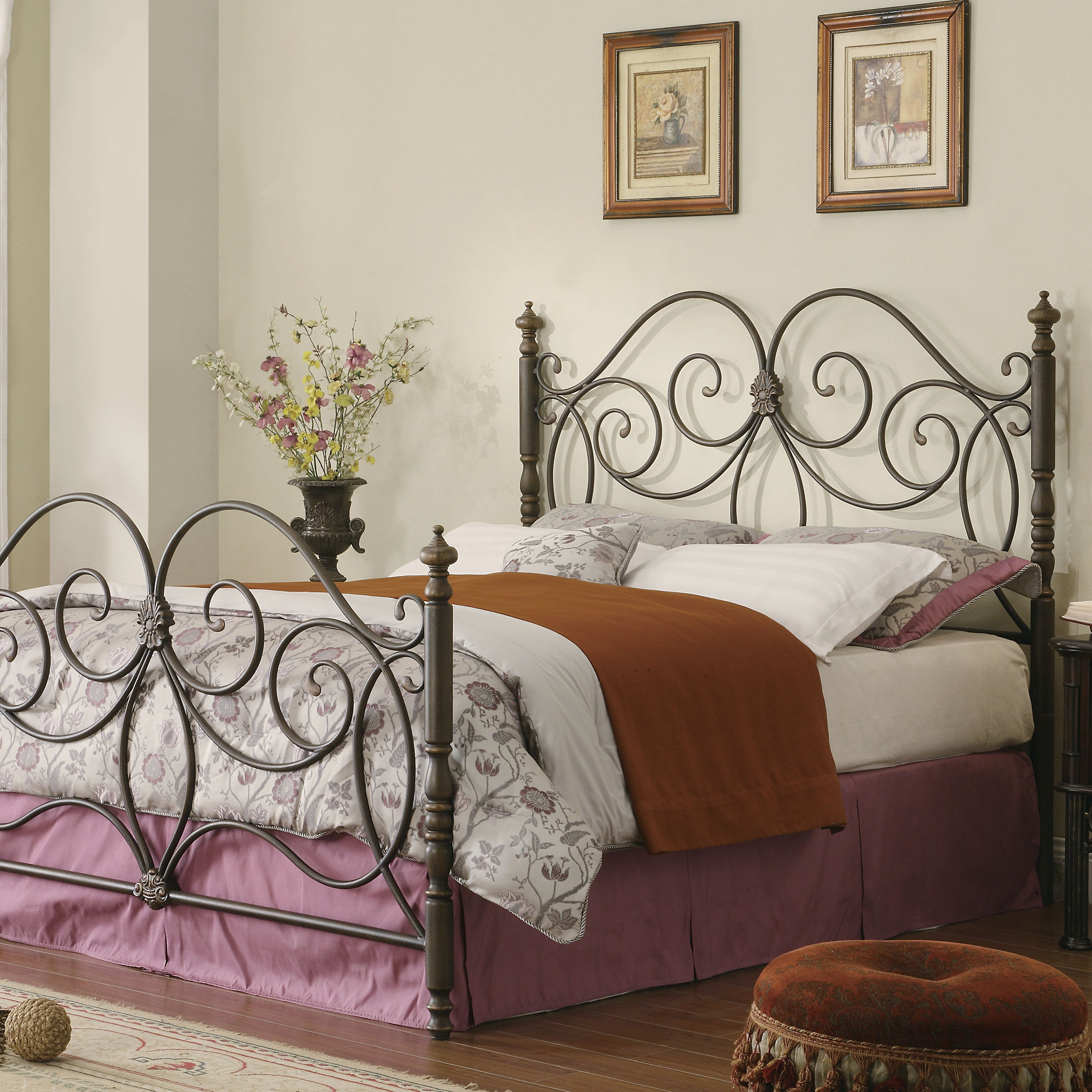 Metal headboard bed frame - Rosalind Wheeler Rankins Open Frame Headboard And Footboard