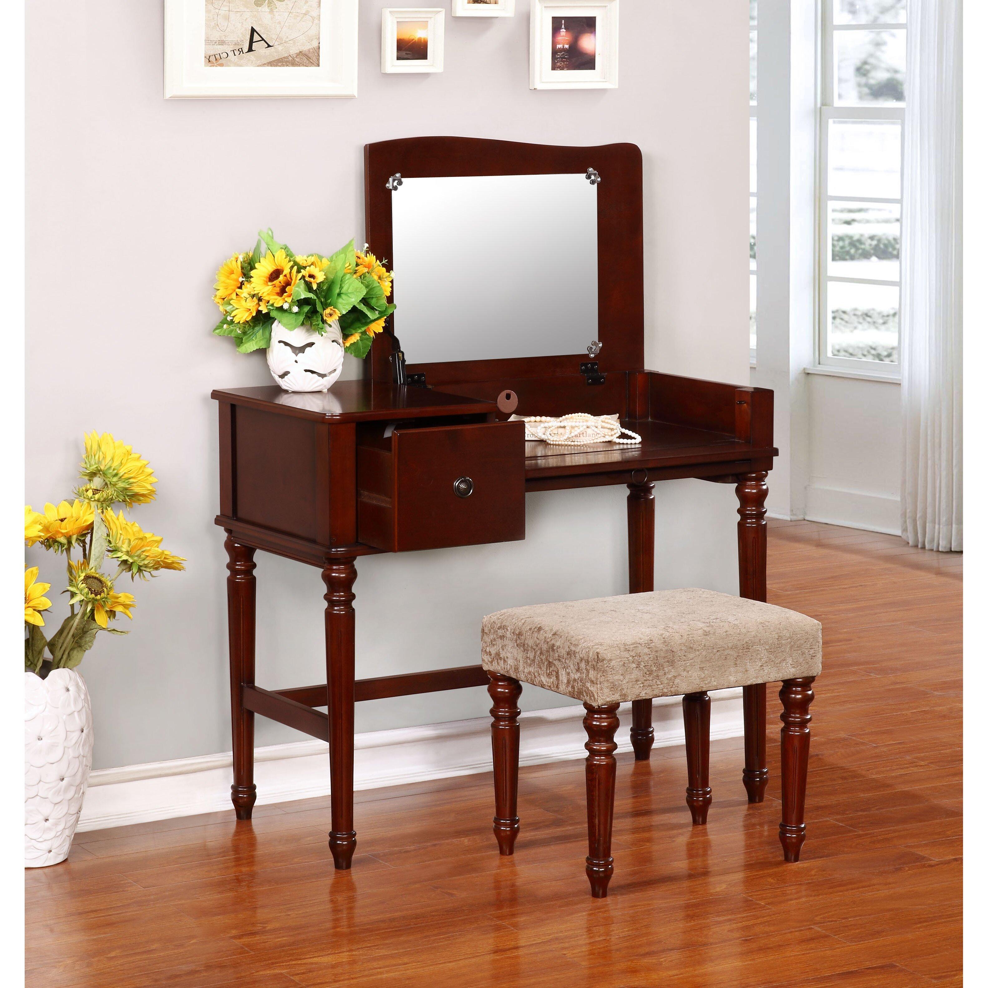 Astoria Grand Beavan Vanity Set With Mirror Amp Reviews
