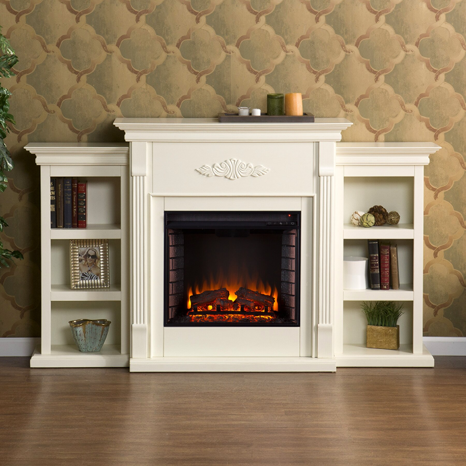 electric fireplace mantels mantel console infrared electric