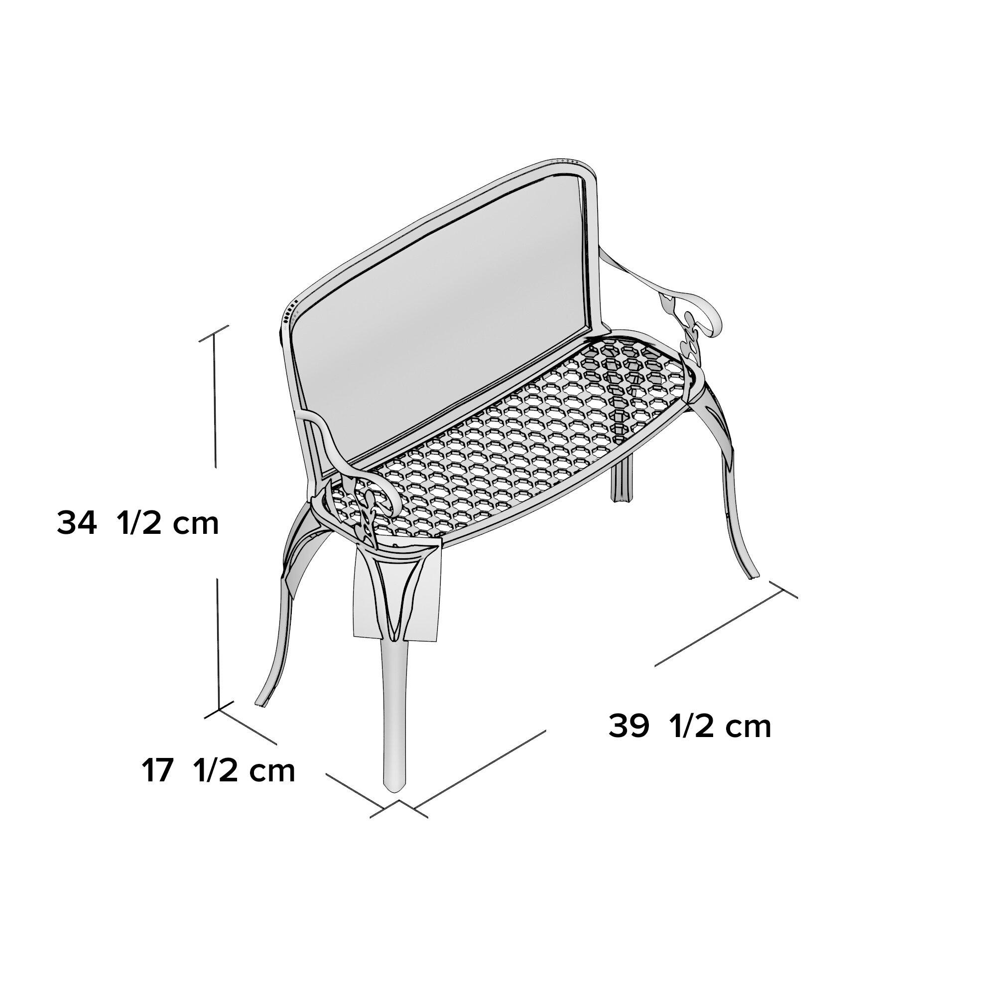Rosalind Wheeler Laborde Aluminum Garden Bench Amp Reviews