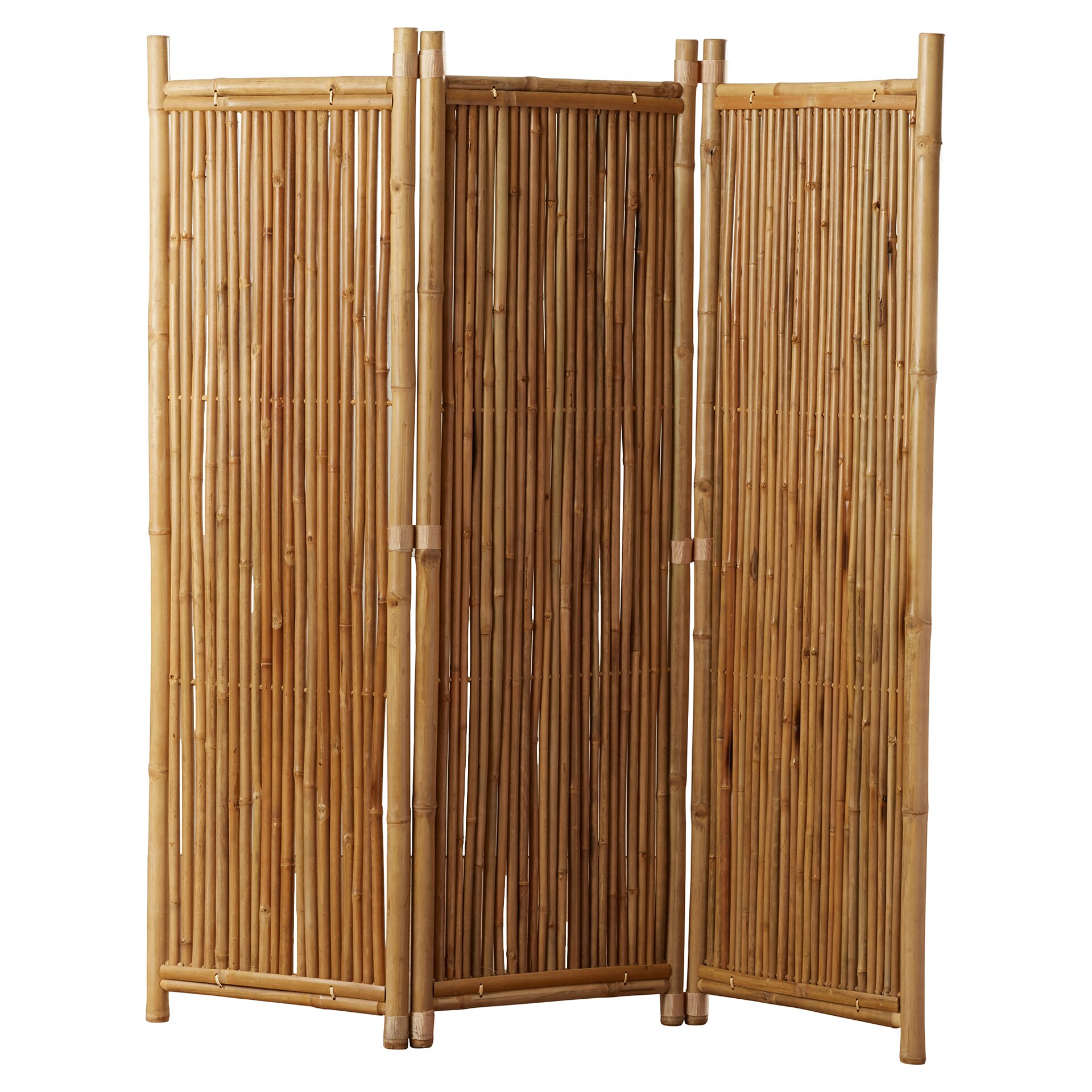 Bay isle home porter 63 x 60 3 panel bamboo room divider for Porte 60 x 30