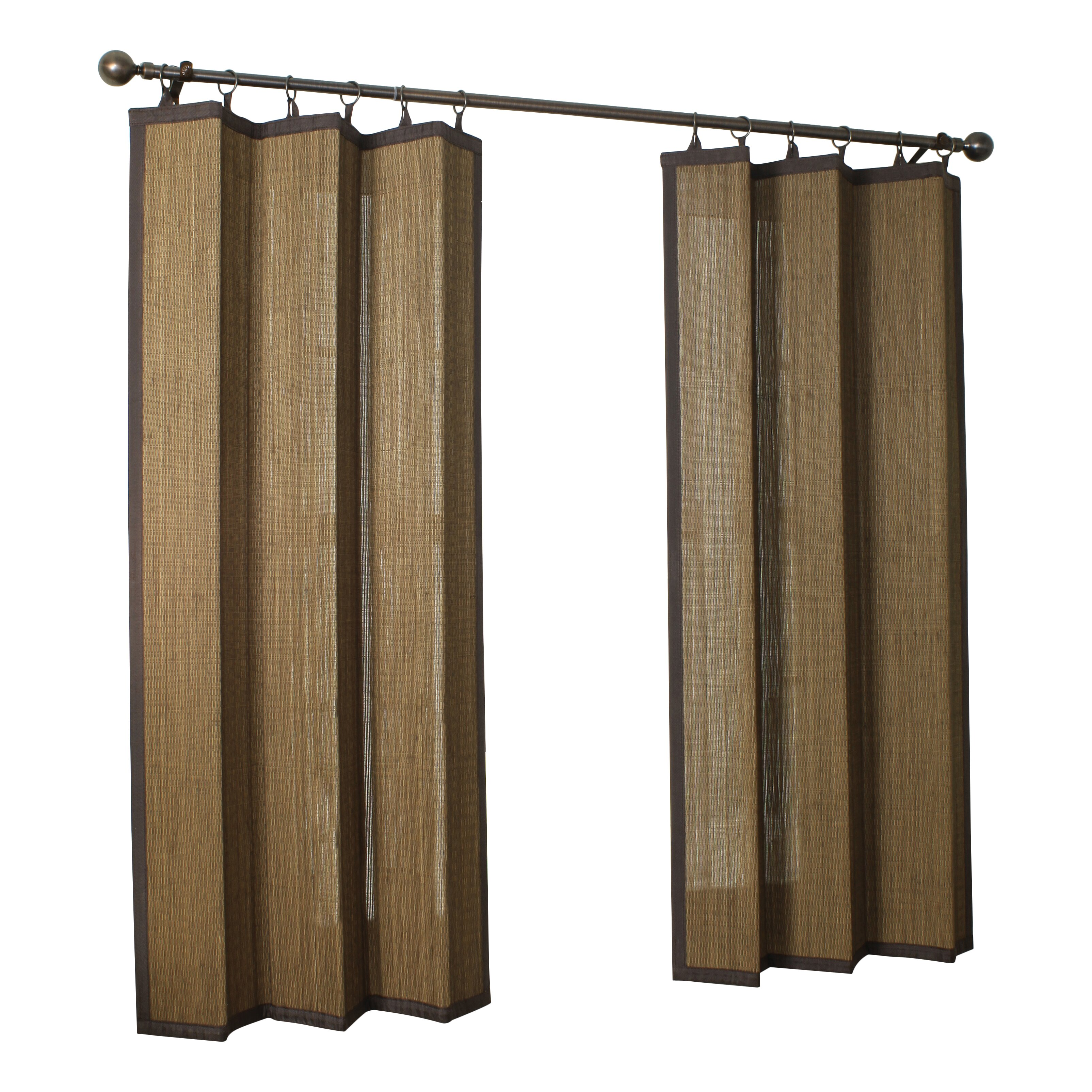 Bamboo curtain rings online kaufen grohandel brown for Drapes or curtains difference