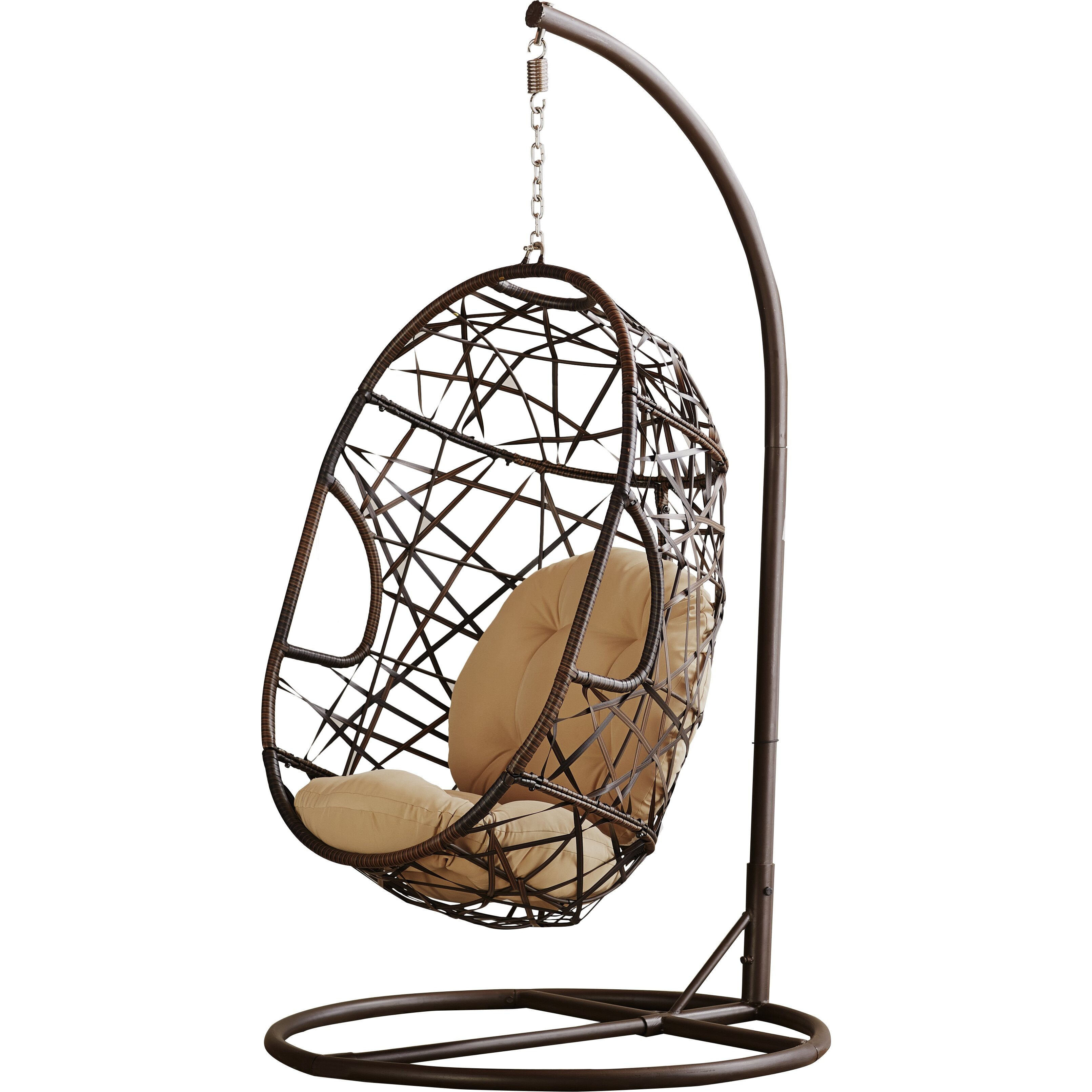 Duncombe Egg Shaped Outdoor Swing Chair With Stand