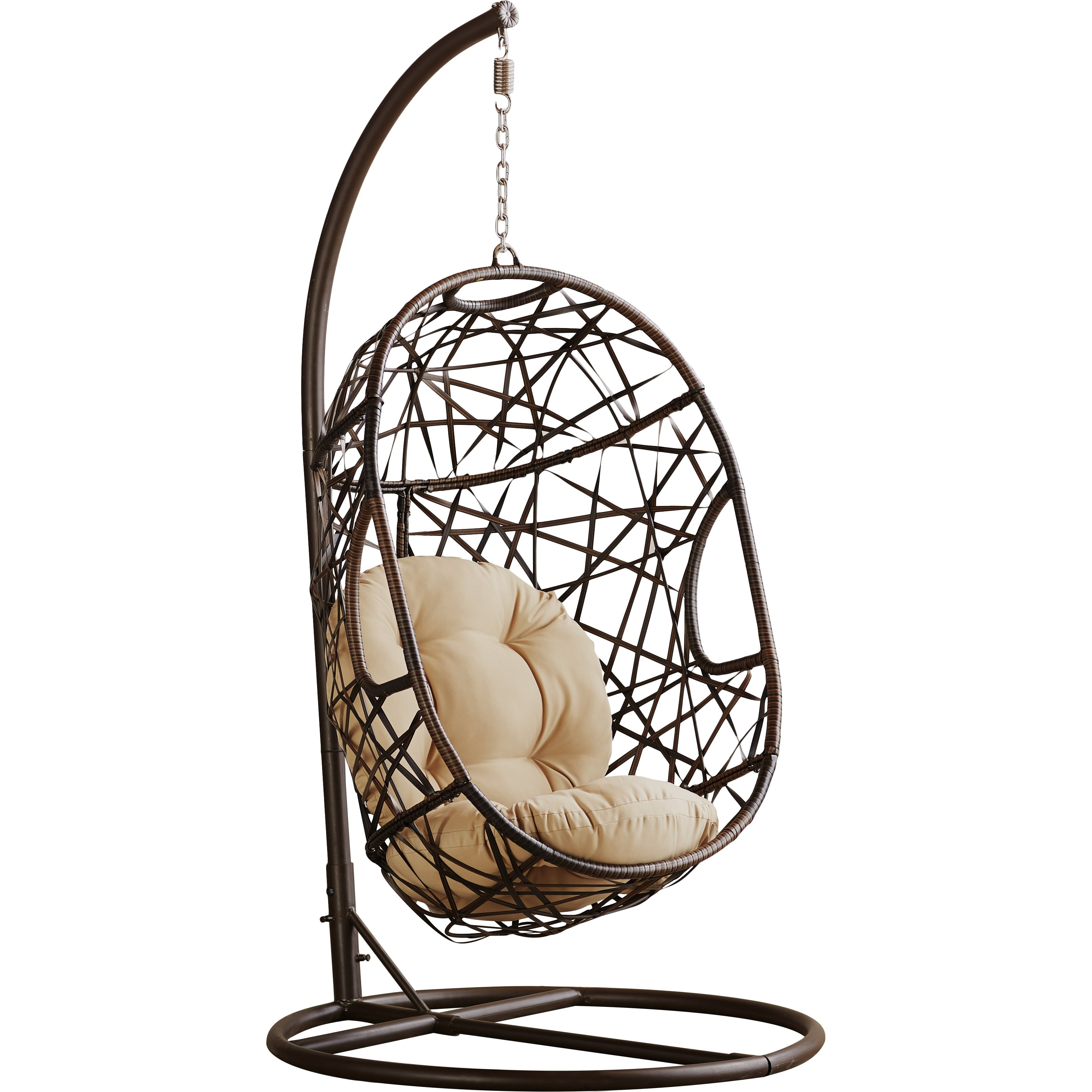Outdoor swing chair with stand - Duncombe Egg Shaped Outdoor Swing Chair With Stand Reviews