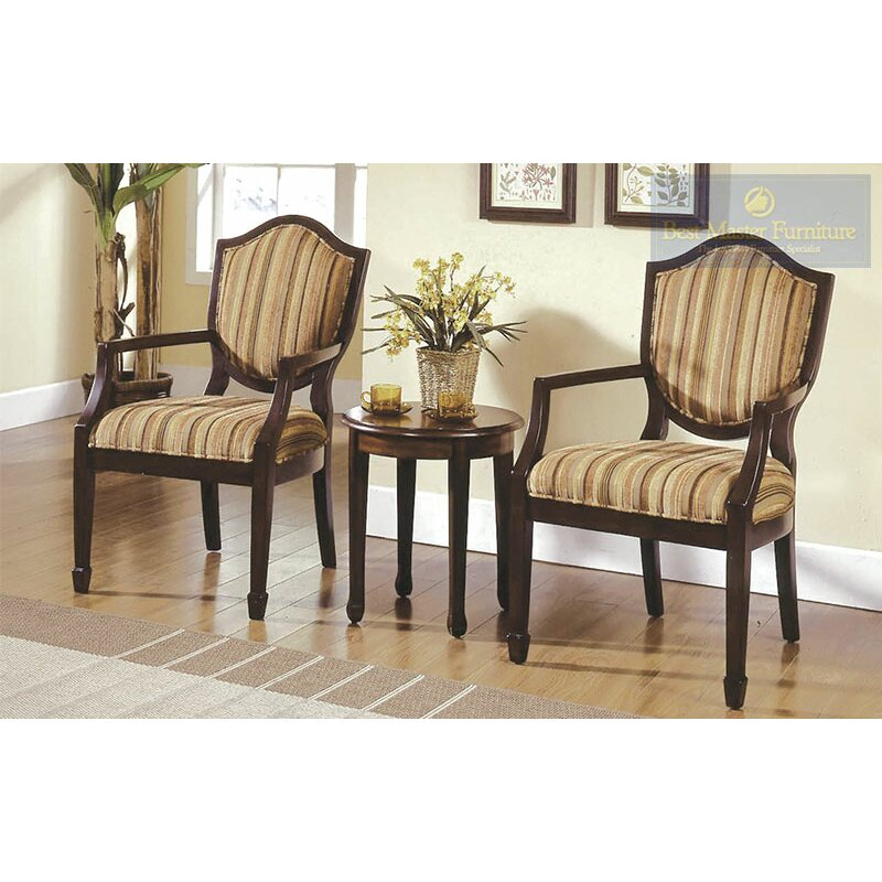 Bay Isle Home Sargentville 3 Pieces Living Room Arm Chair Set