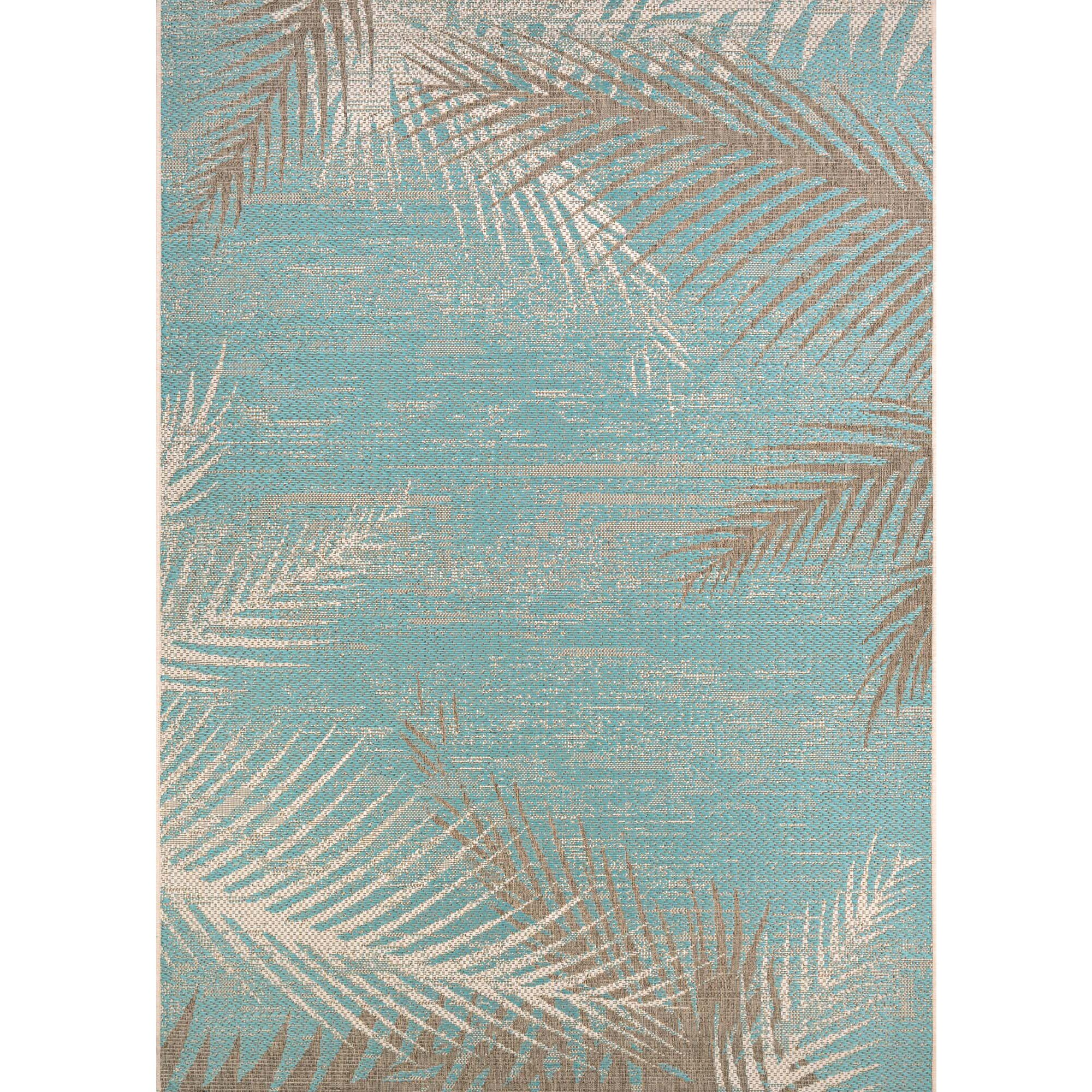 Bay Isle Home Karakoumi Tropical Palms Turquoise Gray
