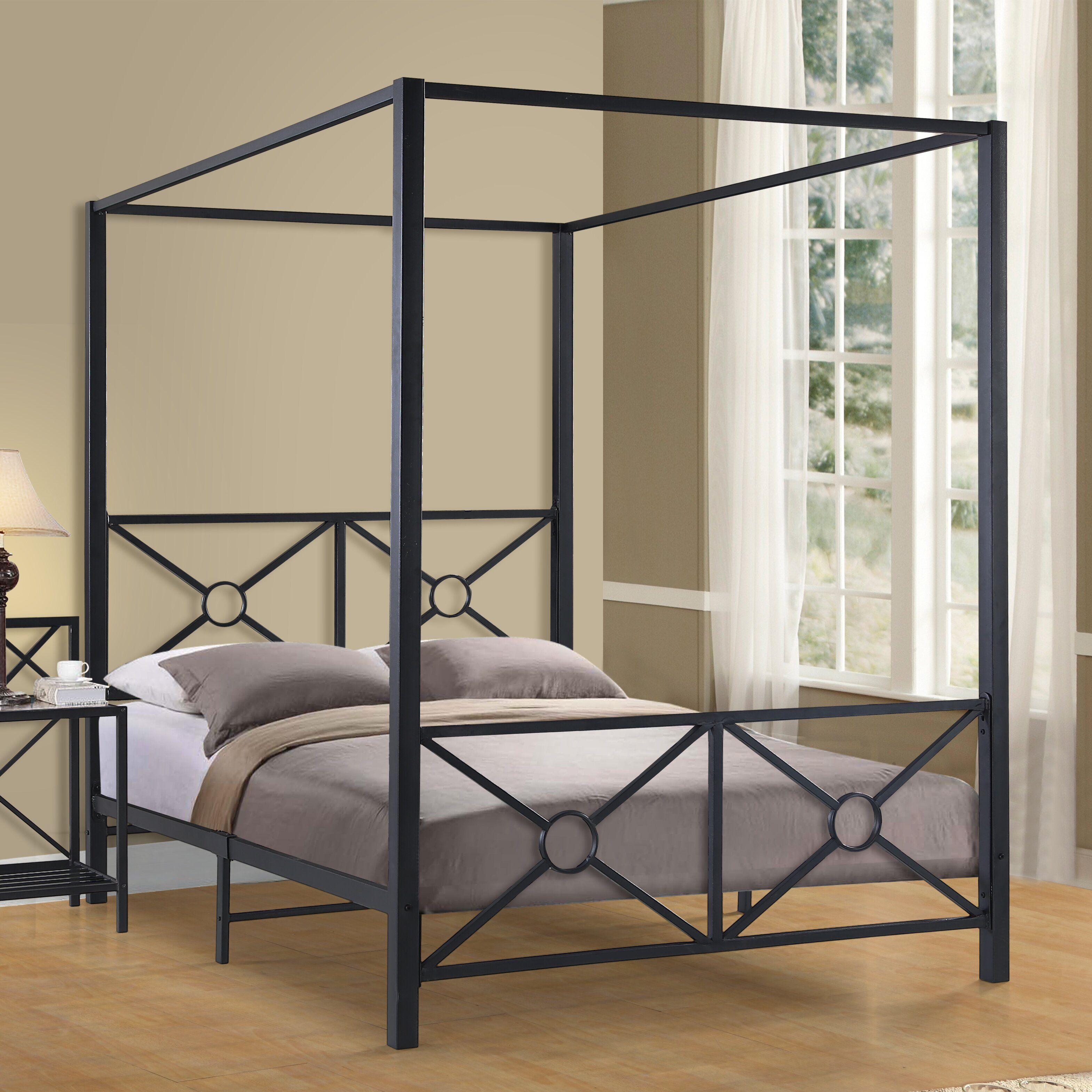 Canopy Beds You'll Love | Wayfair - Symeon Canopy Bed