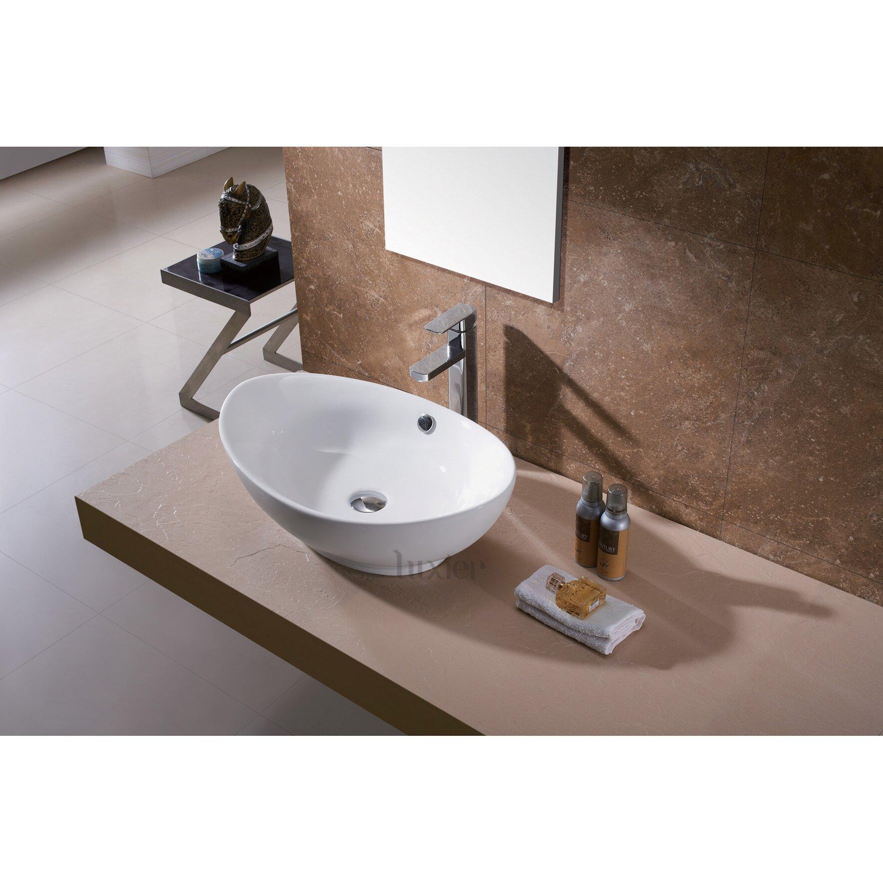 Ceramic Bathroom Basin : 004 Bathroom Egg Porcelain Ceramic Vessel Vanity Sink Art Basin by ...