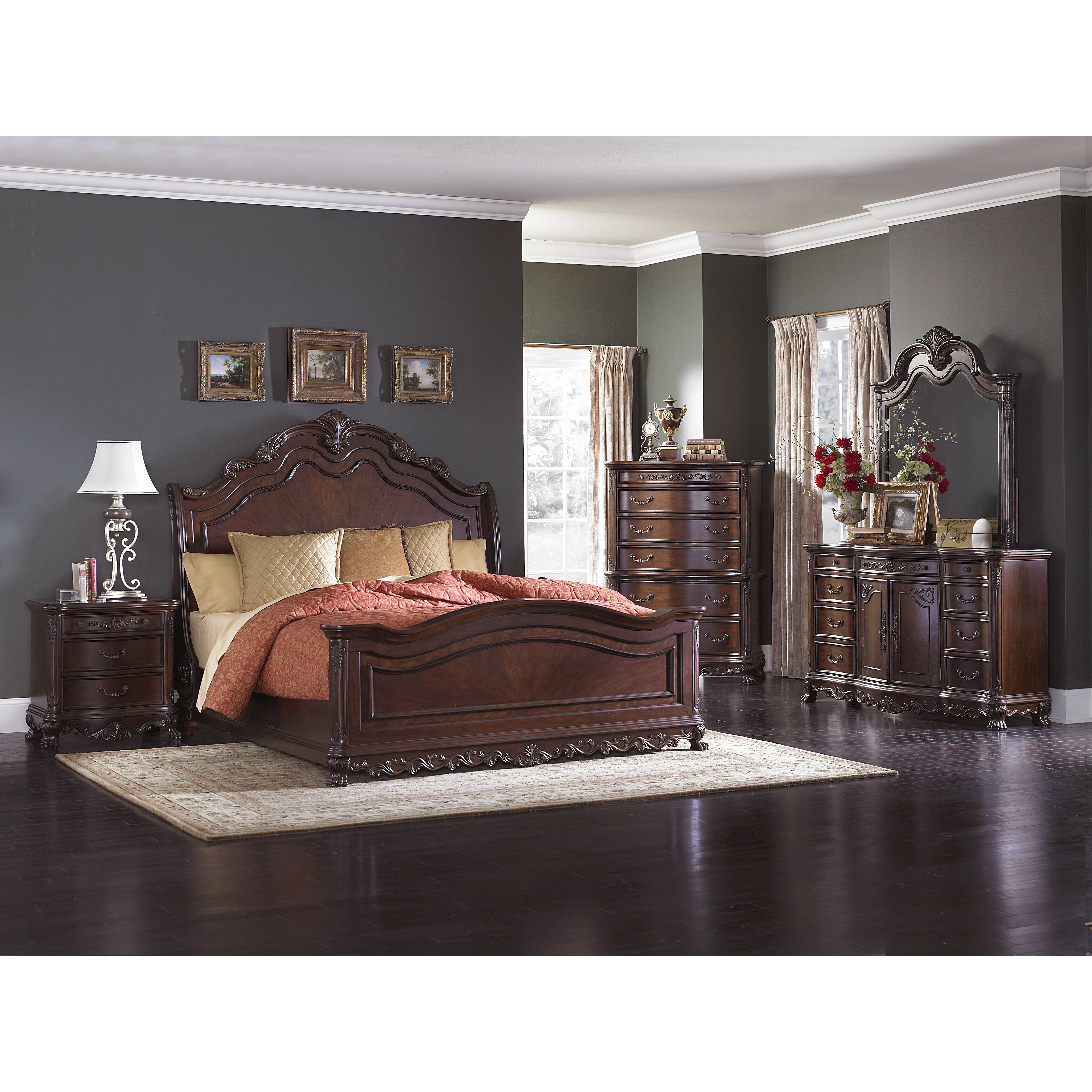 Solid Mahogany Bedroom Furniture Sleigh Bedroom Sets Youll Love Wayfair
