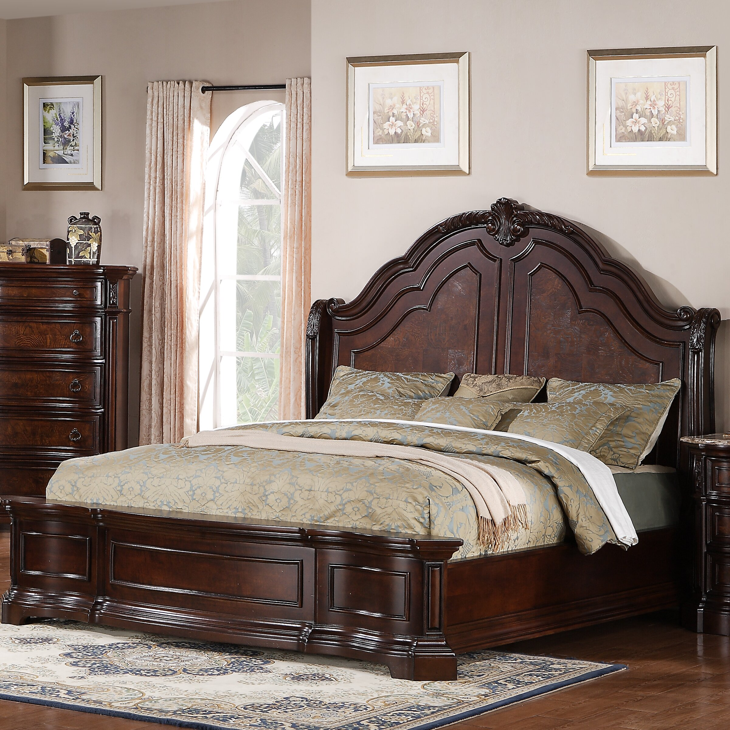 Baxendale Panel Bed Curved Low Footboard Bed Wayfair  Sauder California  King Purple Beds Descargas Mundiales. Wooden Sauder Purple Beds   thegibbonsschool com