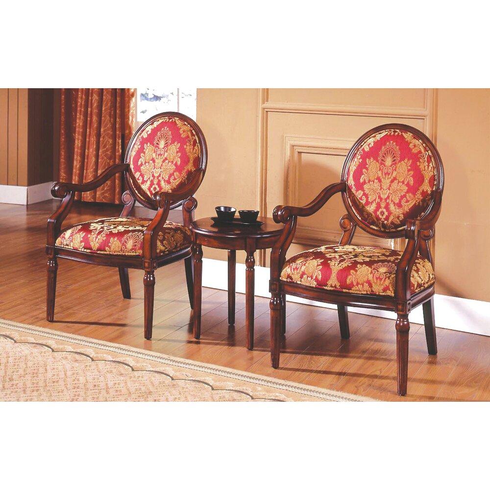 Astoria Grand Ambassador 3 Pieces Living Room Arm Chair