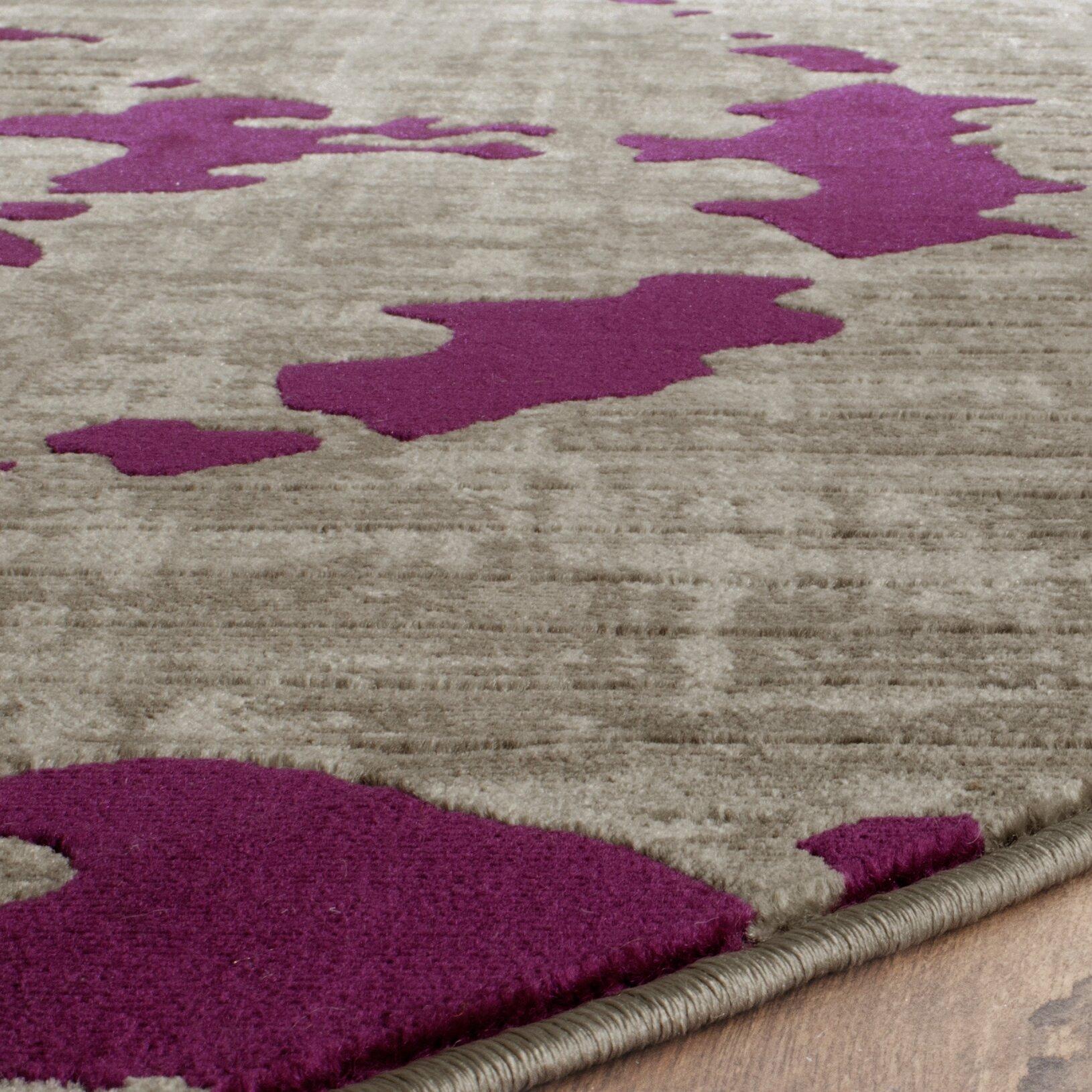 Purple And Gray Area Rugs: World Menagerie Varnai Light Gray/Purple Area Rug