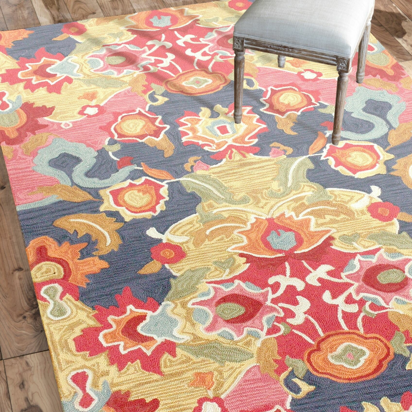 Red And Blue Area Rug Home Decor