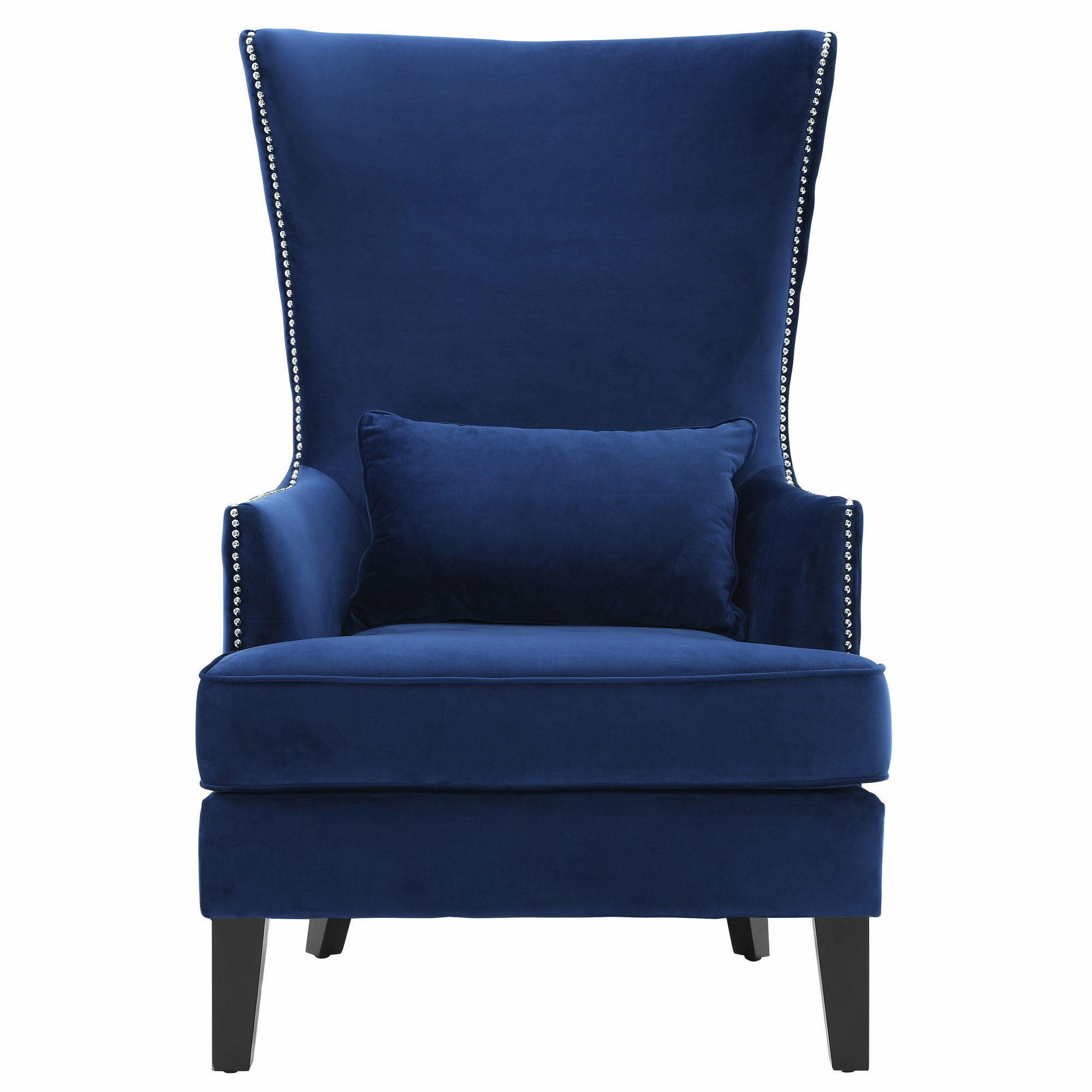 Mcm Talll Back Square Arm Accent Chair: Mercer41 Stonehill Velvet Wingback Arm Chair & Reviews