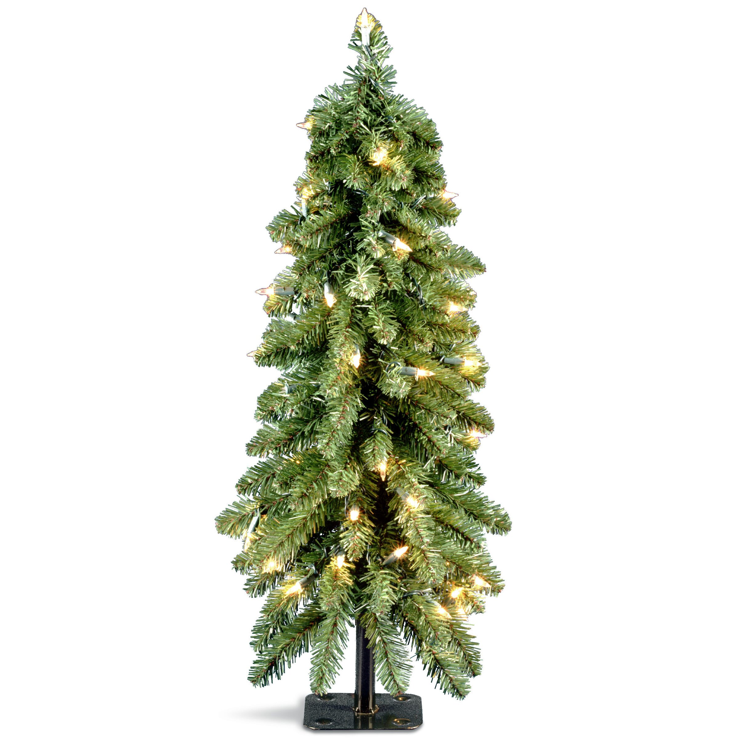 Faux Christmas Tree. Amazing Prelit Artificial Christmas Tree With ...