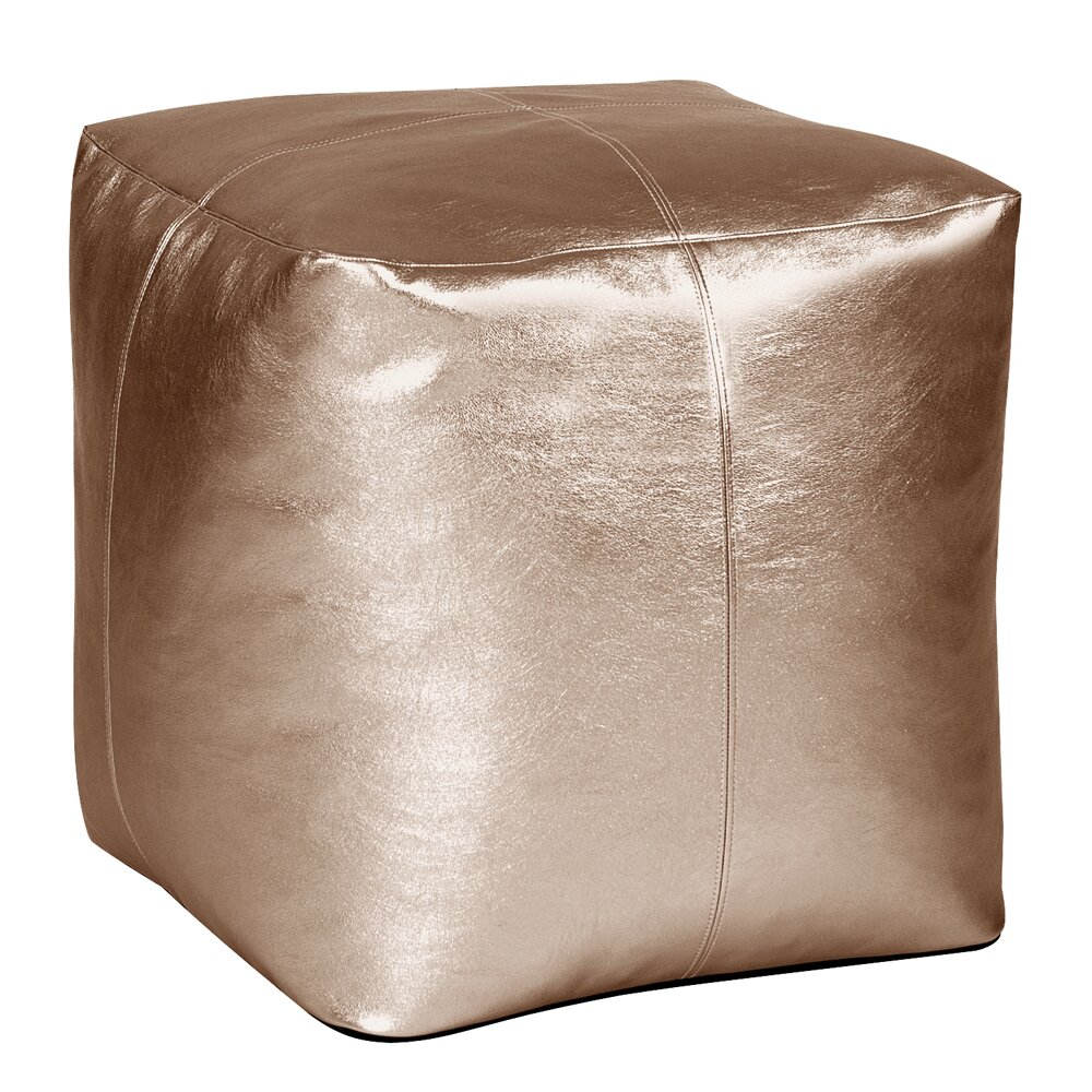 mercer™ bismuth square pouf shimmer ottoman  wayfair - mercertrade bismuth square pouf shimmer ottoman