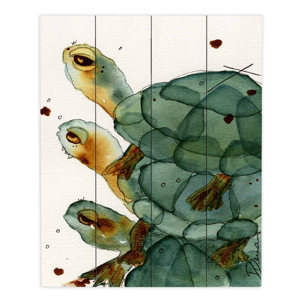 Dianochedesigns Turtle Crush By Dawn Derman Painting Print