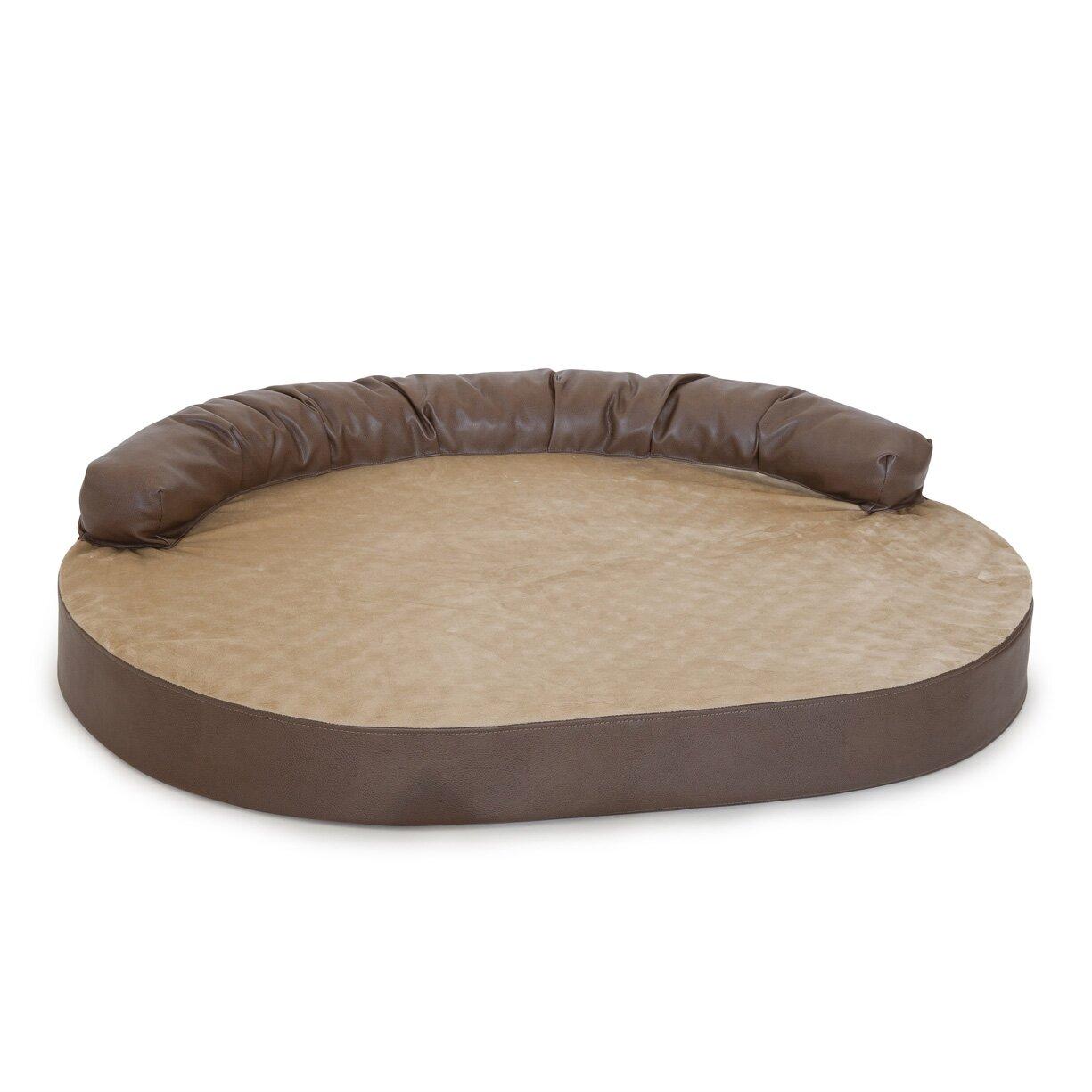integrity bedding orthopedic memory foam leatherette joint relief bolster dog bed reviews. Black Bedroom Furniture Sets. Home Design Ideas