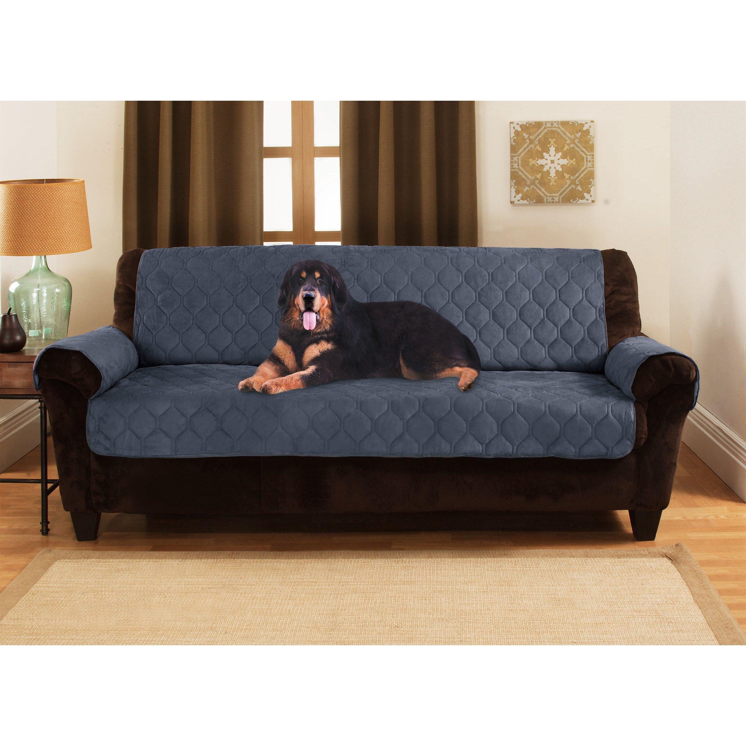 yes pets honeycomb microsuede sofa slipcover reviews wayfair