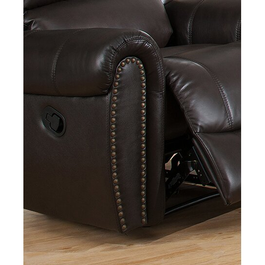 Amax Charlotte 3 Piece Leather Recliner Living Room Set | Wayfair
