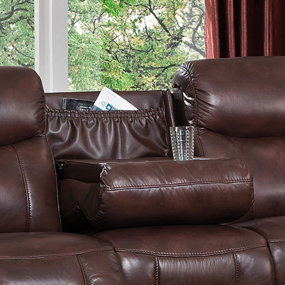 Reclining power sofa with drop down table and headrest presley espresso reclining sofa centerfordemocracy org geotapseo Choice Image