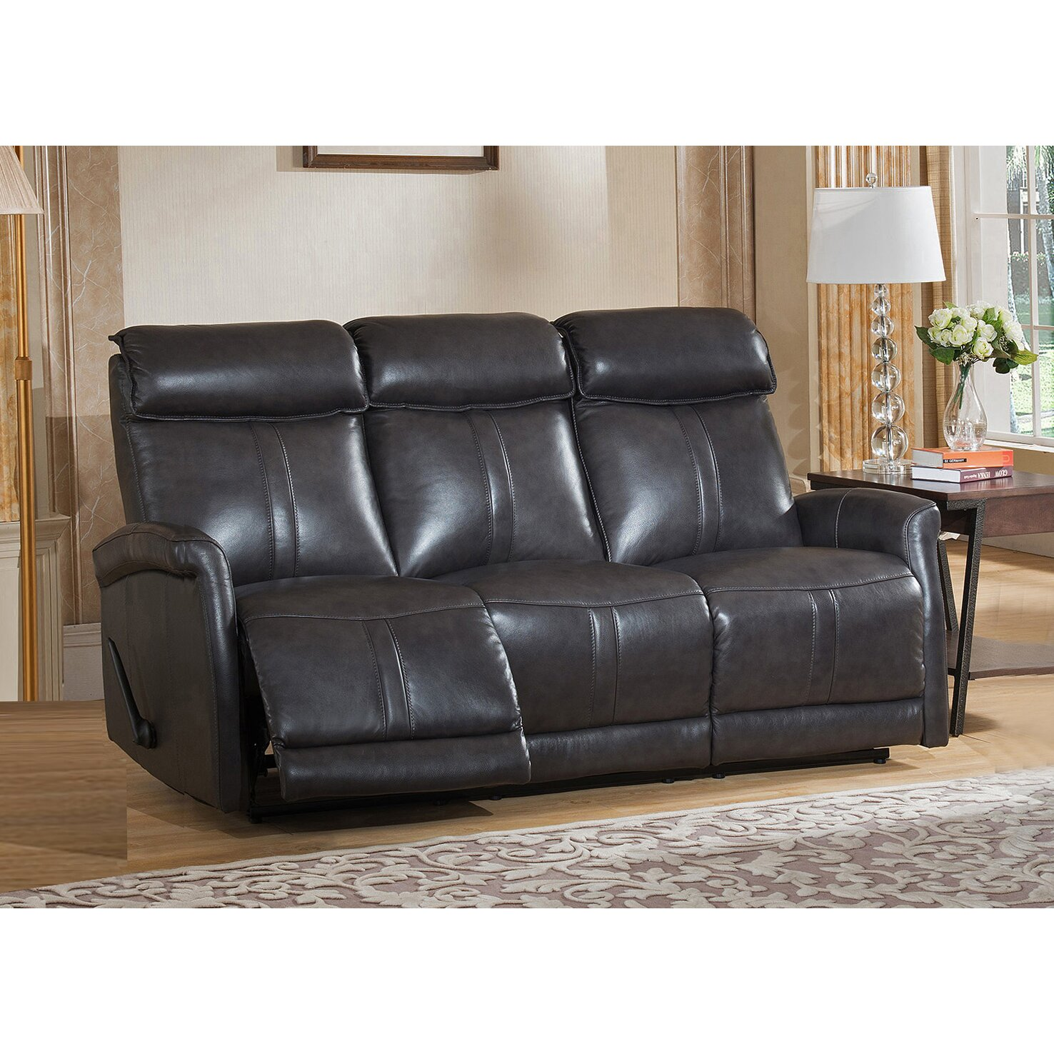 Amax mosby 3 piece leather living room set wayfair for 3pc leather living room set