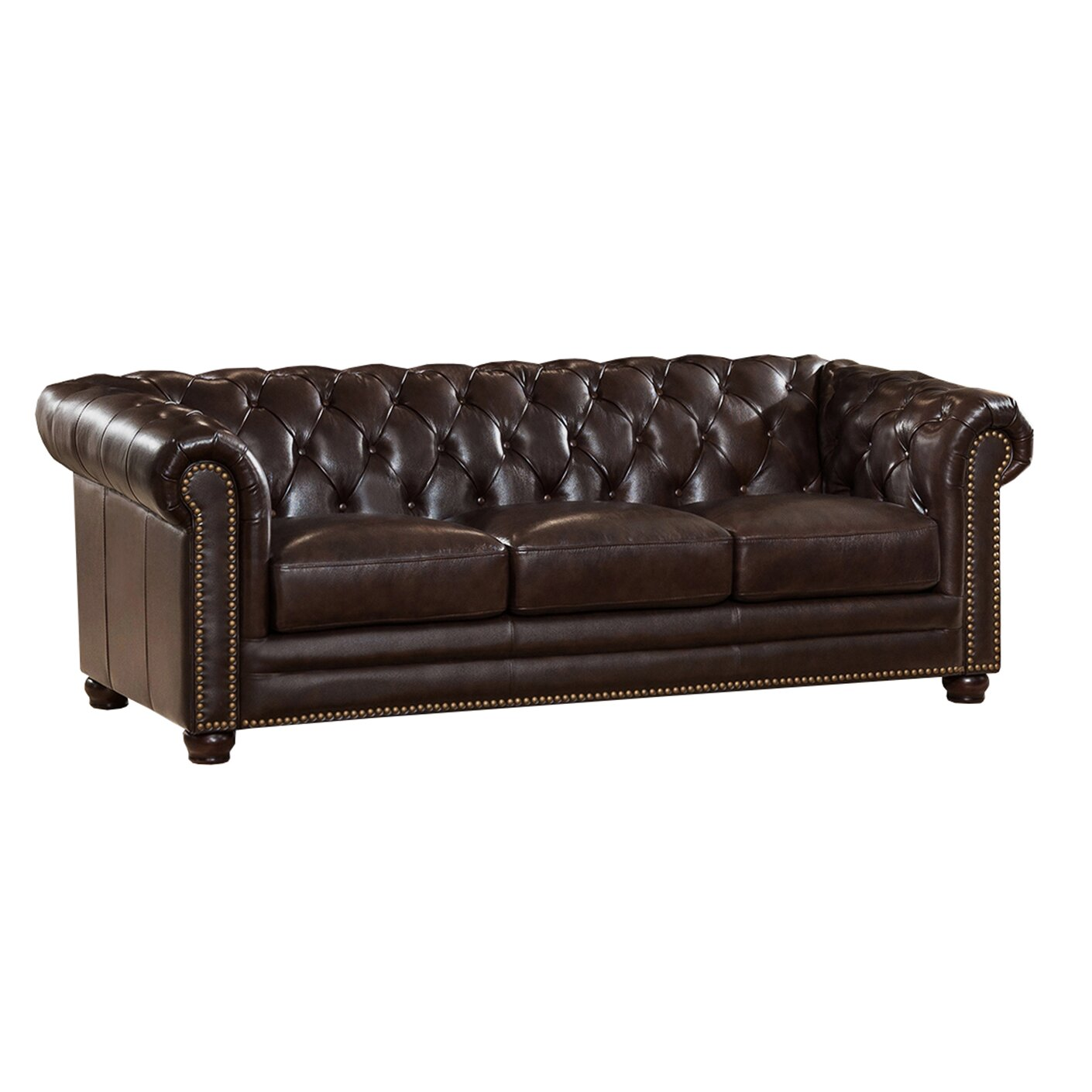 amax kensington top grain leather chesterfield sofa and. Black Bedroom Furniture Sets. Home Design Ideas