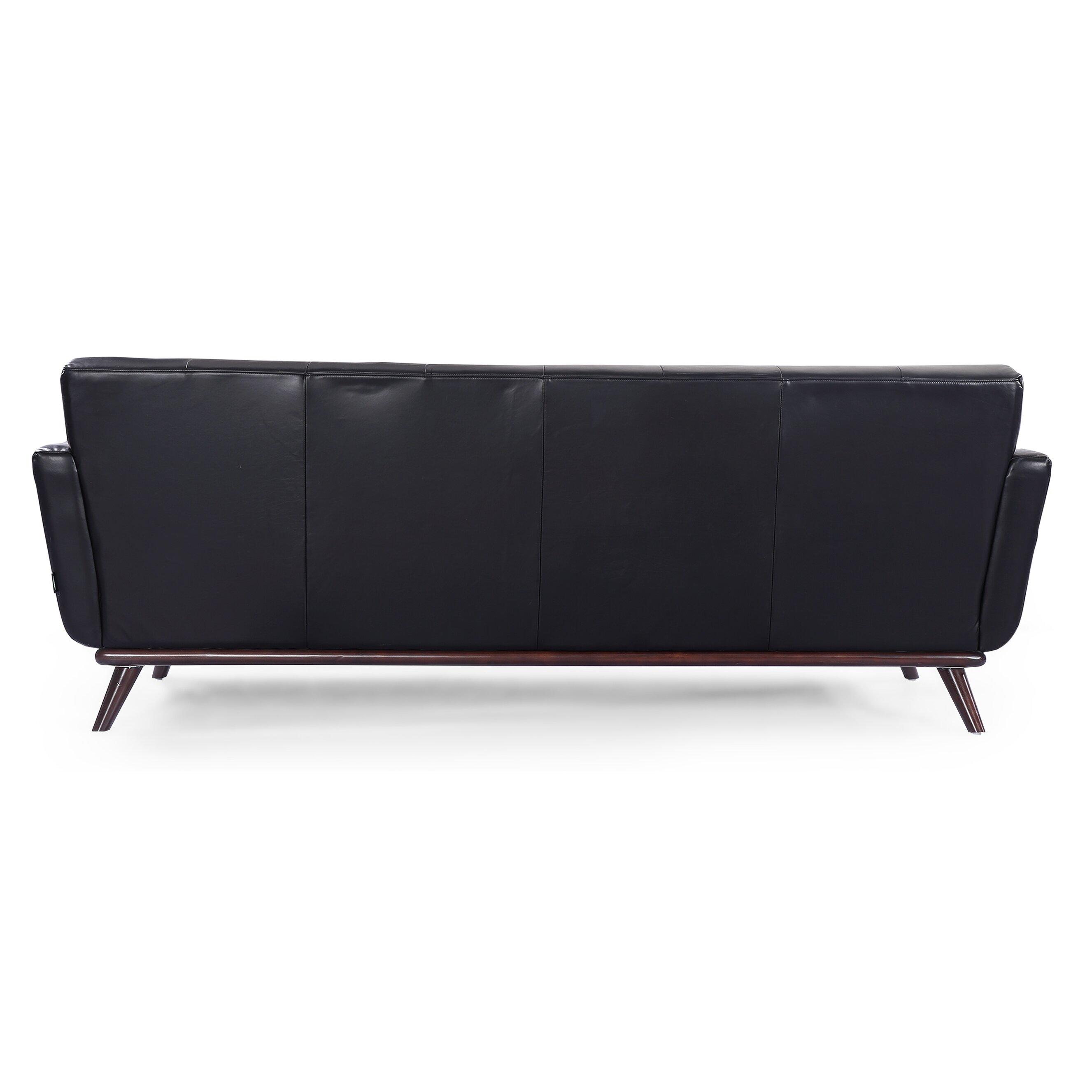 Kardiel Jackie Mid Century Modern Vintage Leather Sofa