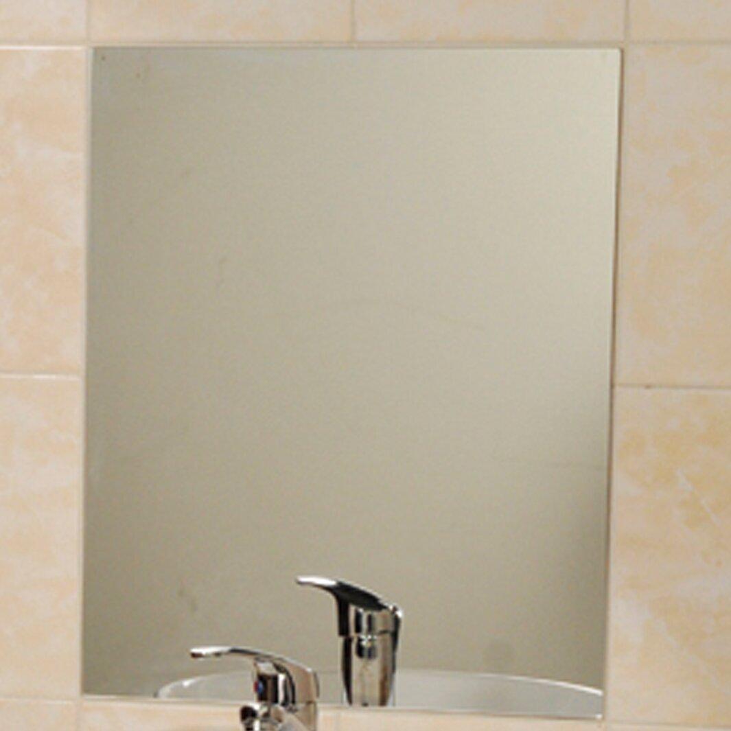 Evideco Mirrorfina Adhesive Rectangular Decorative Bathroom Wall Mirror