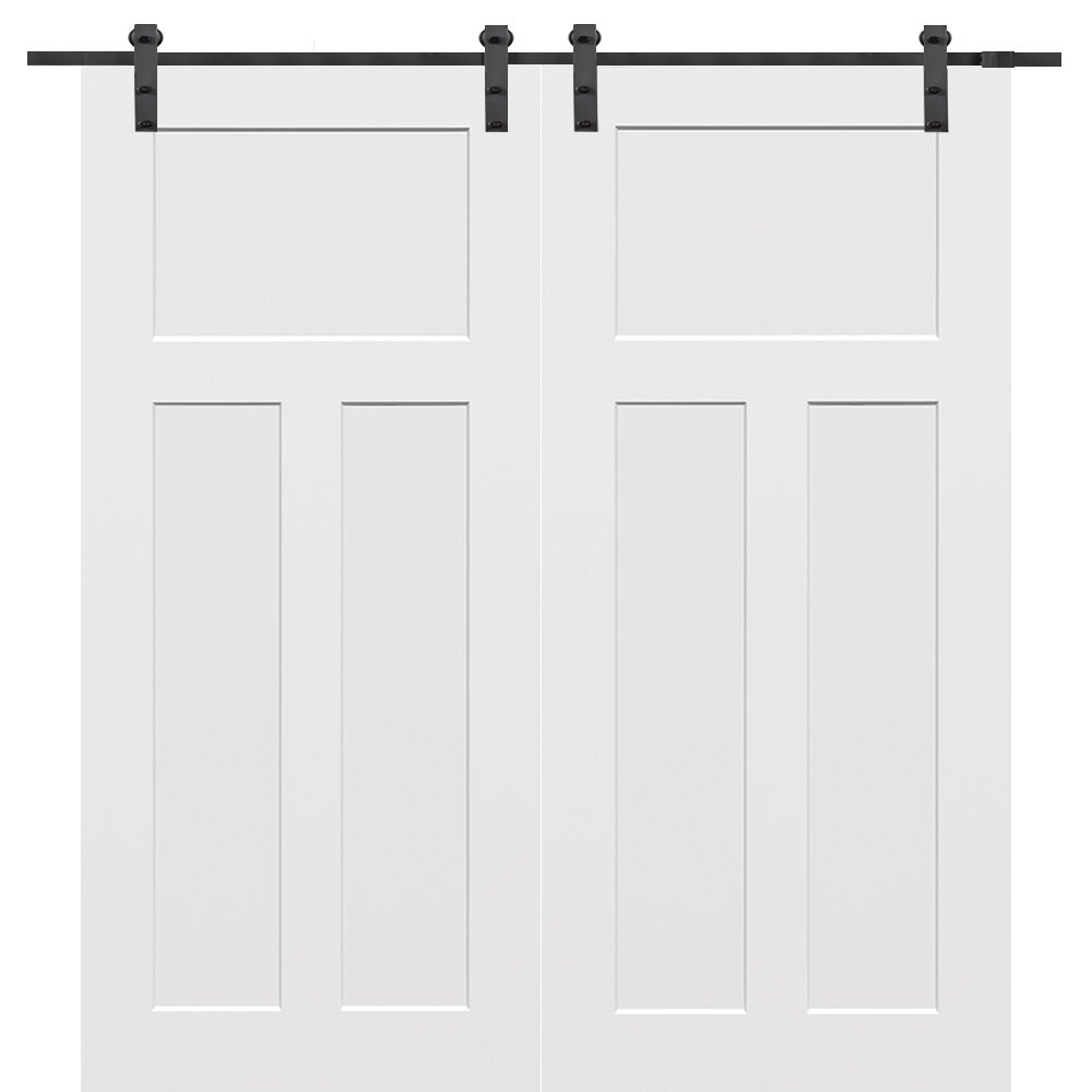 Verona Home Design Craftsman MDF 3 Panel Primed Interior  : Verona Home Design Craftsman MDF 3 Panel Primed Interior Barn Door from www.wayfair.com size 1000 x 1000 jpeg 45kB