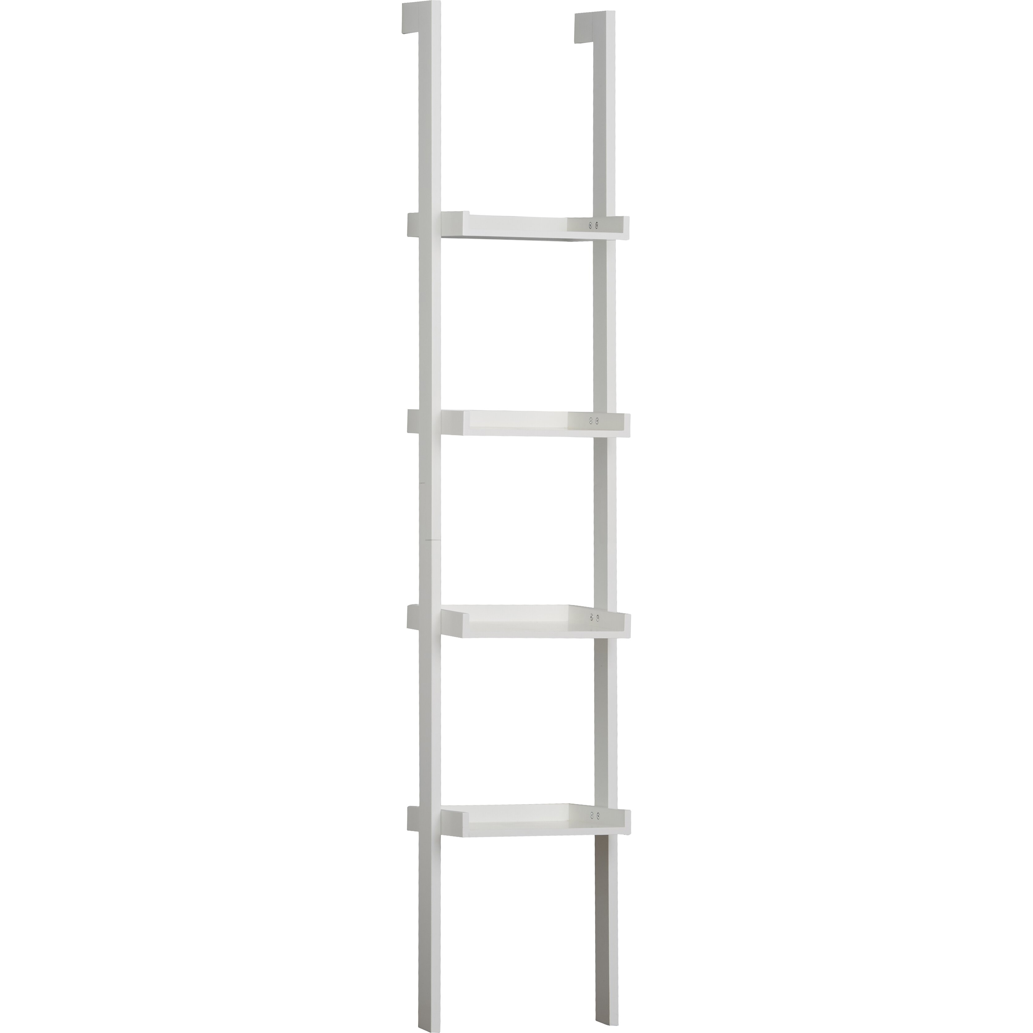 Riley Ave. Chris Tall Narrow Ladder 180cm Leaning Bookcase ...
