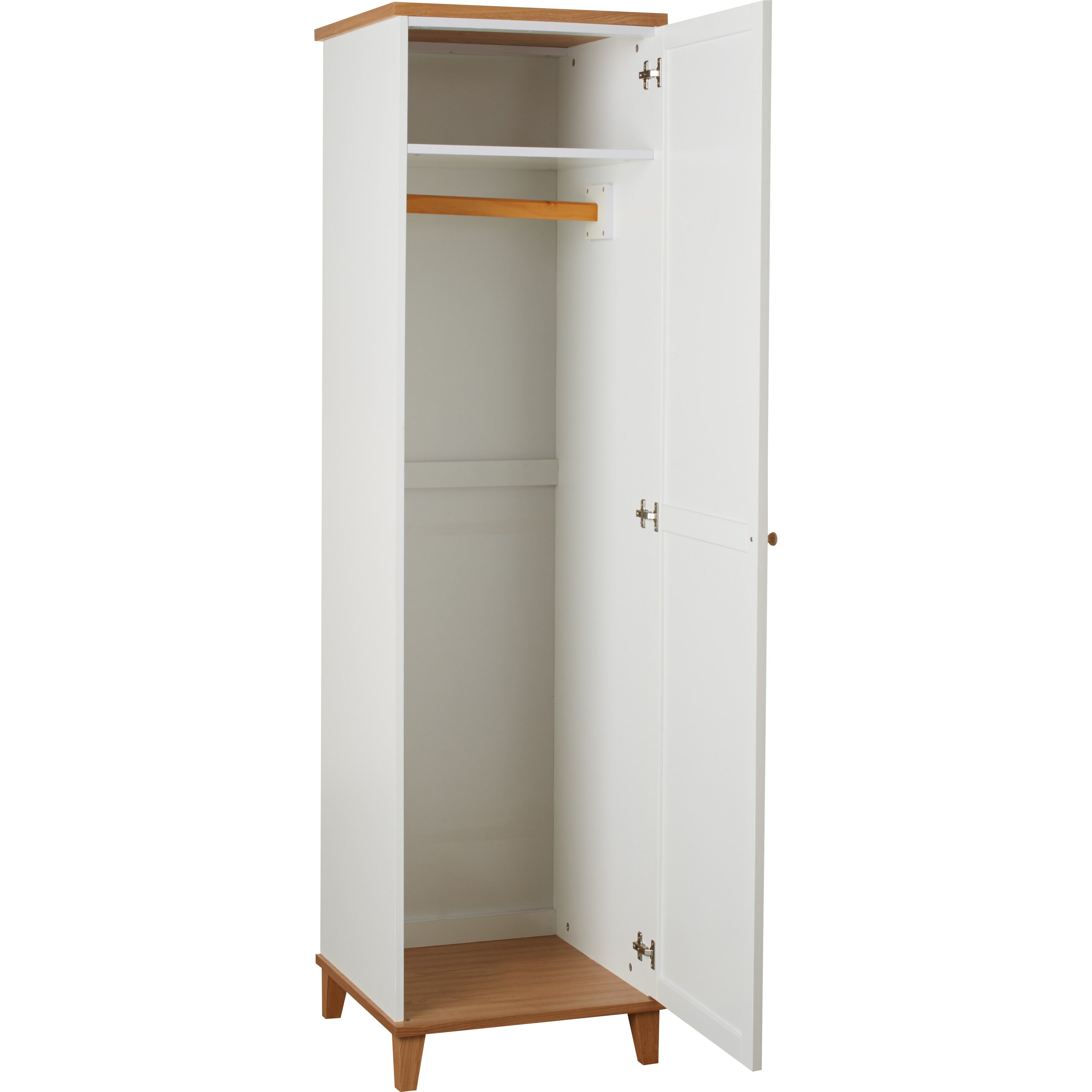 Cheshire Single Door 2 Drawer Wardrobe