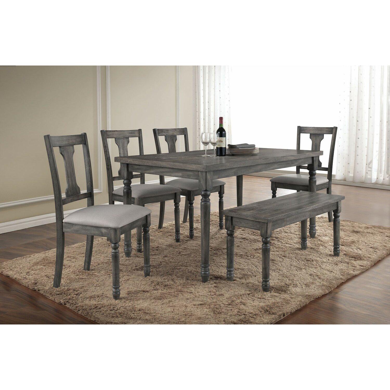 Infini furnishings 7 piece dining set reviews wayfair for Furniture 7 credit reviews