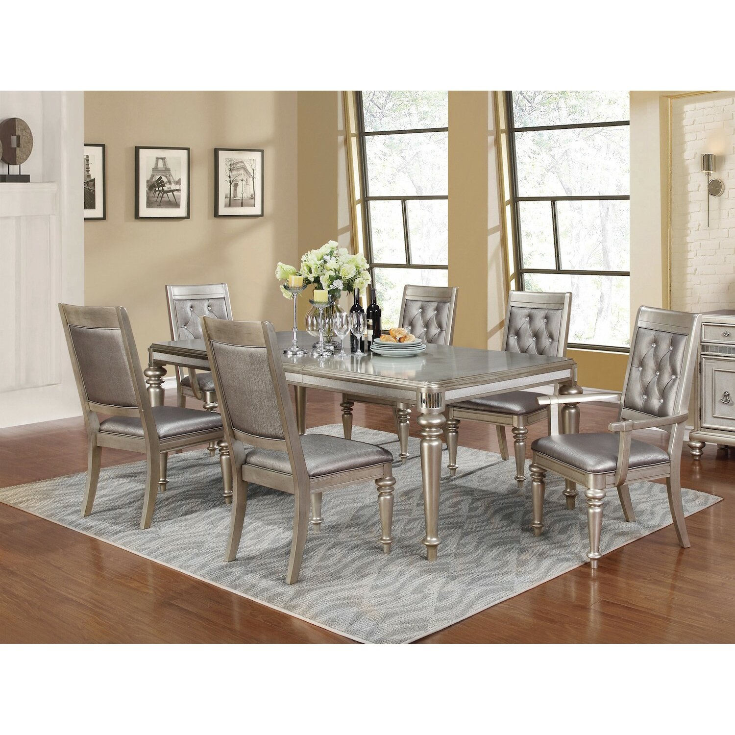 Infini Furnishings Victoria 7 Piece Dining Set & Reviews